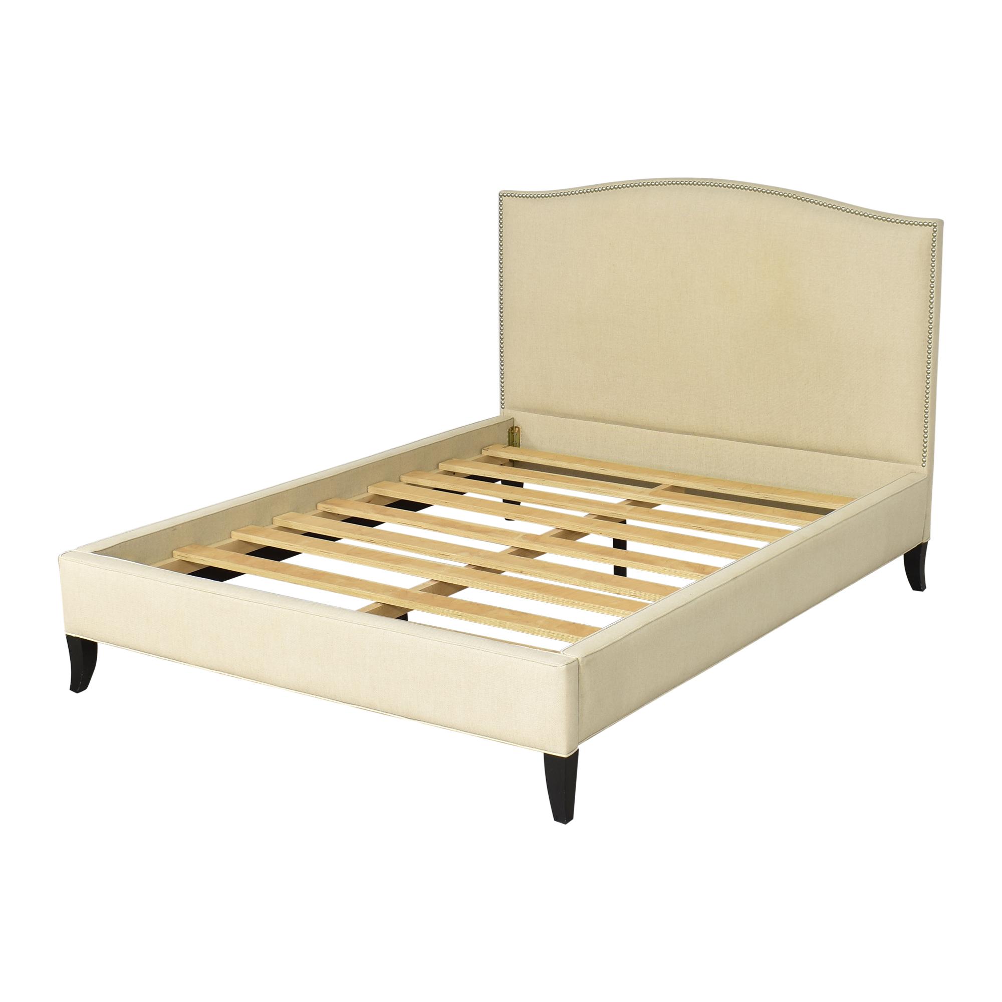 Crate & Barrel Colette Upholstered Queen Bed / Beds