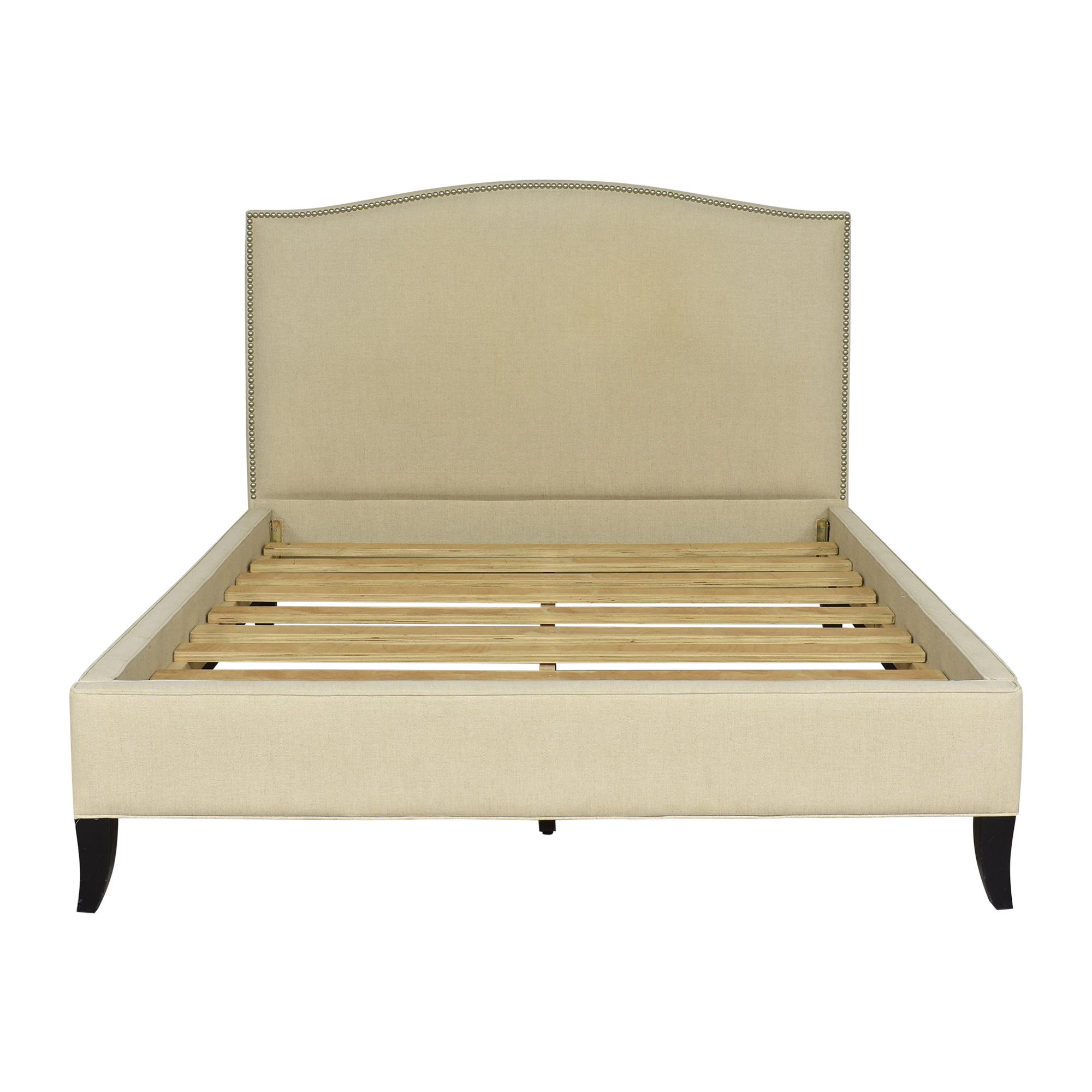 Crate & Barrel Crate & Barrel Colette Upholstered Queen Bed Beds