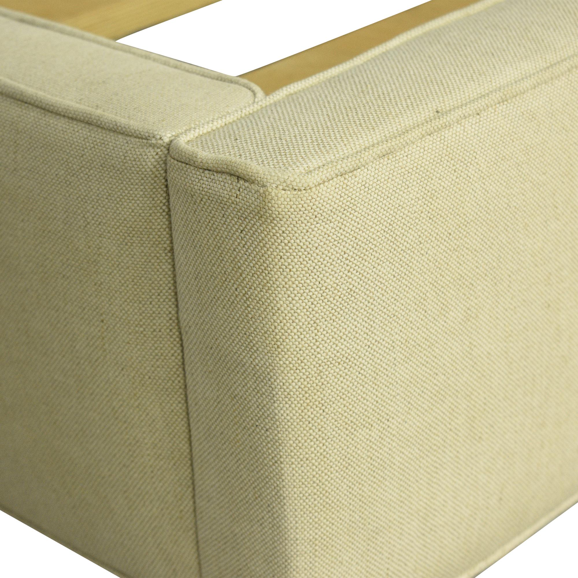 Crate & Barrel Colette Upholstered Queen Bed Crate & Barrel