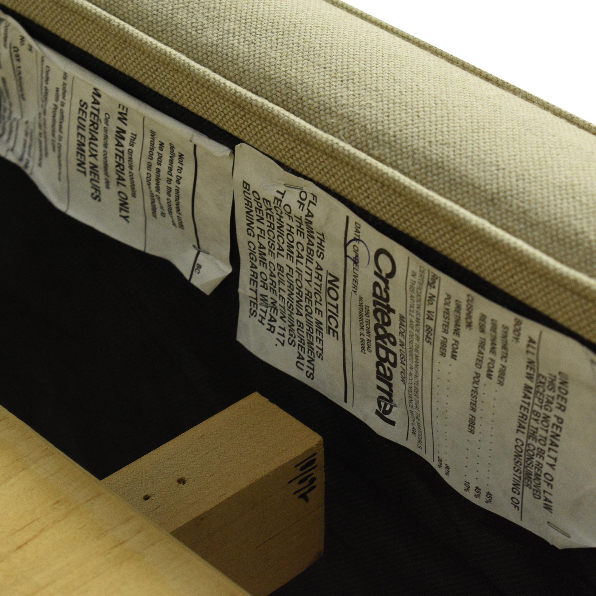 Crate & Barrel Crate & Barrel Colette Upholstered Queen Bed for sale