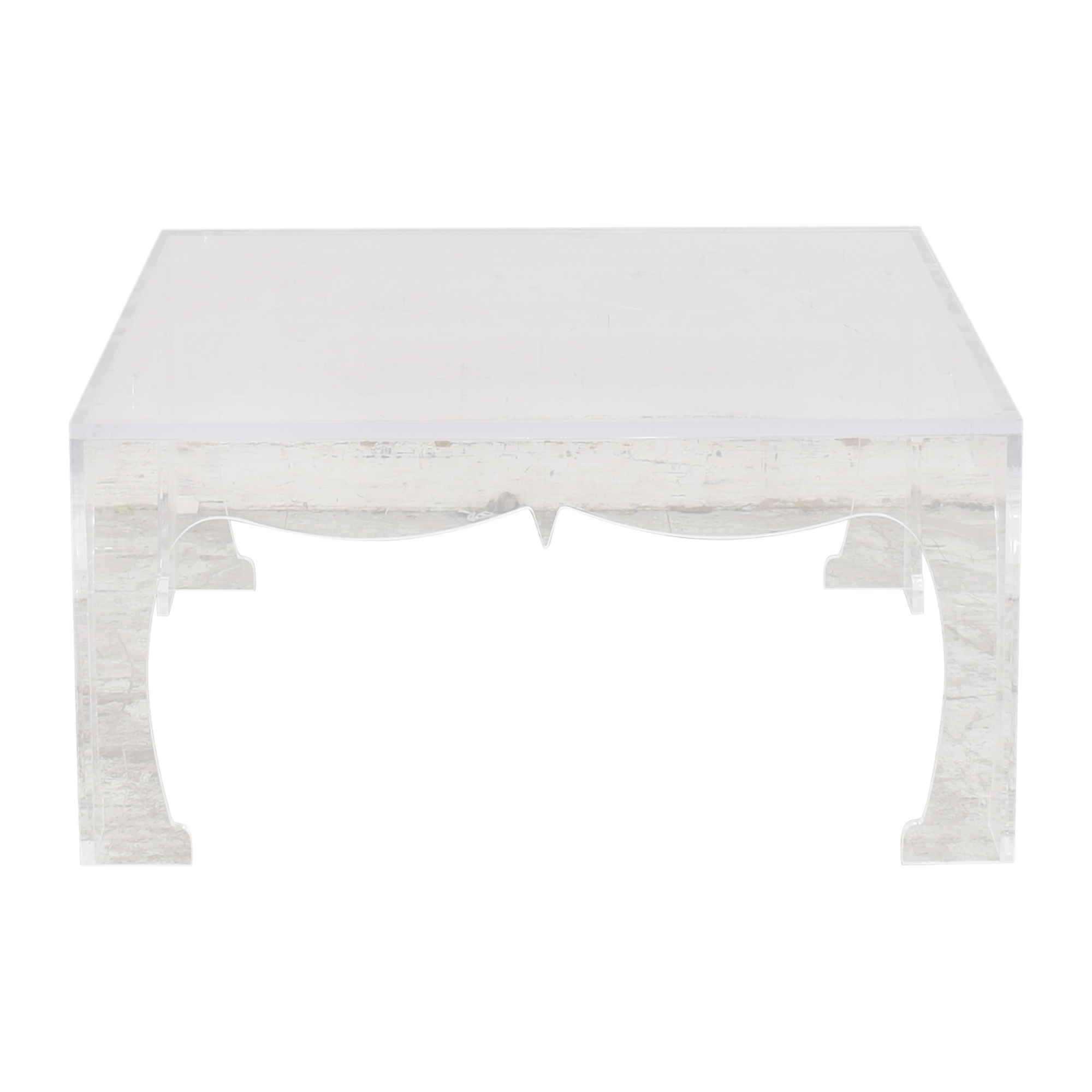 Plexi-Craft Square-Top Coffee Table / Coffee Tables