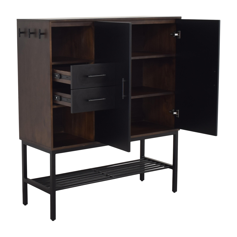 Crate & Barrel Crate & Barrel Tatum Entryway Shoe Storage Cabinet on sale