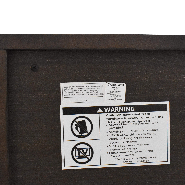 shop Crate & Barrel Tatum Entryway Shoe Storage Cabinet Crate & Barrel Cabinets & Sideboards