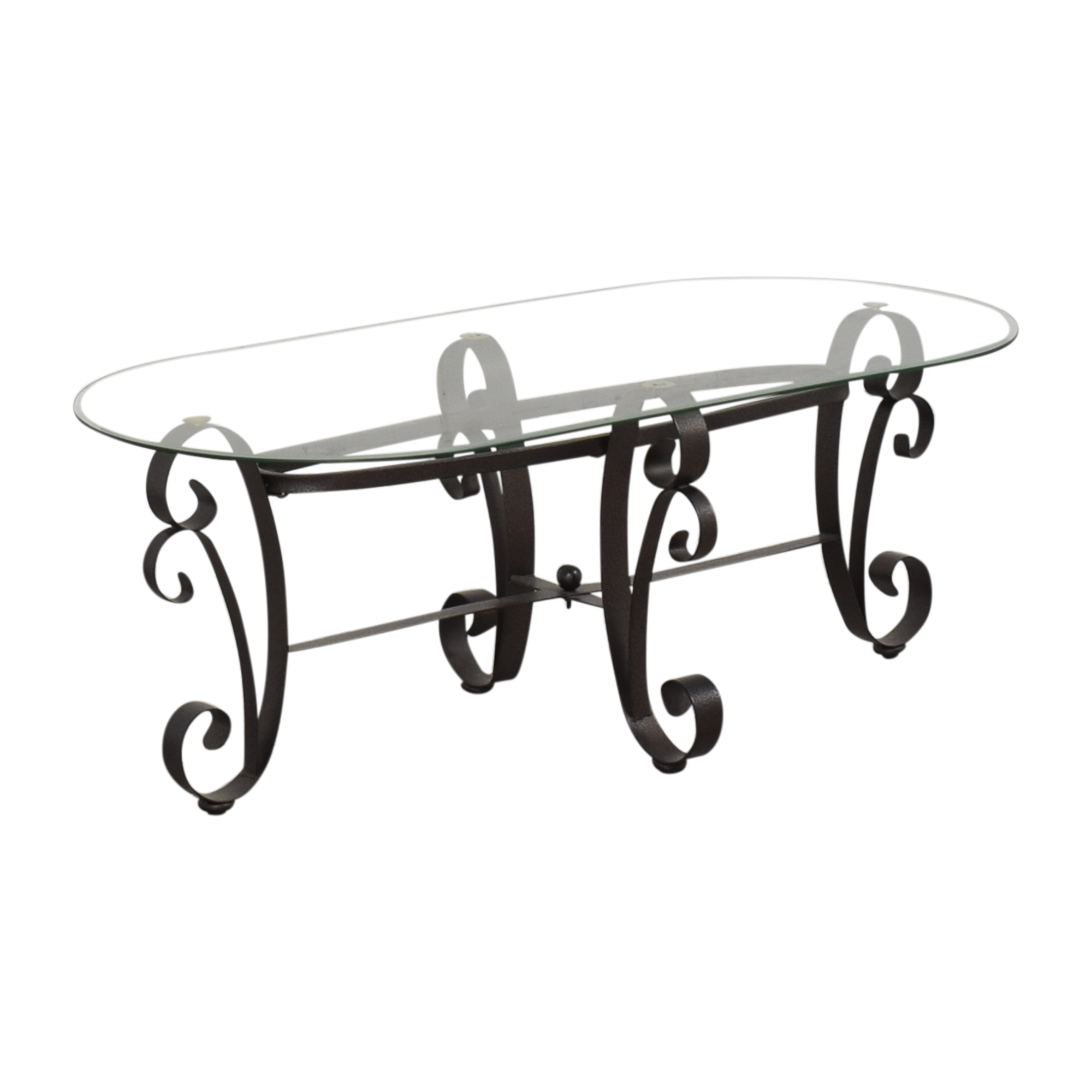 buy Oval Transparent Coffee Table  Coffee Tables