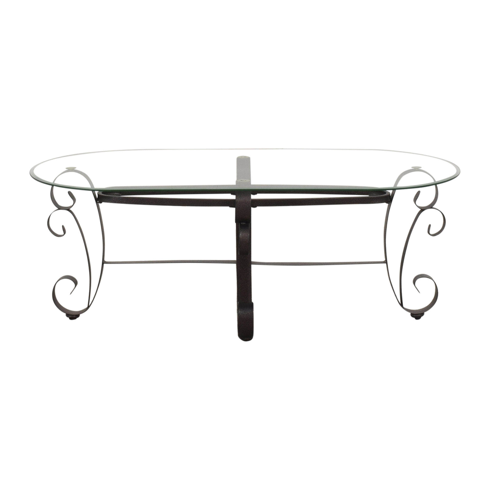 shop Oval Transparent Coffee Table