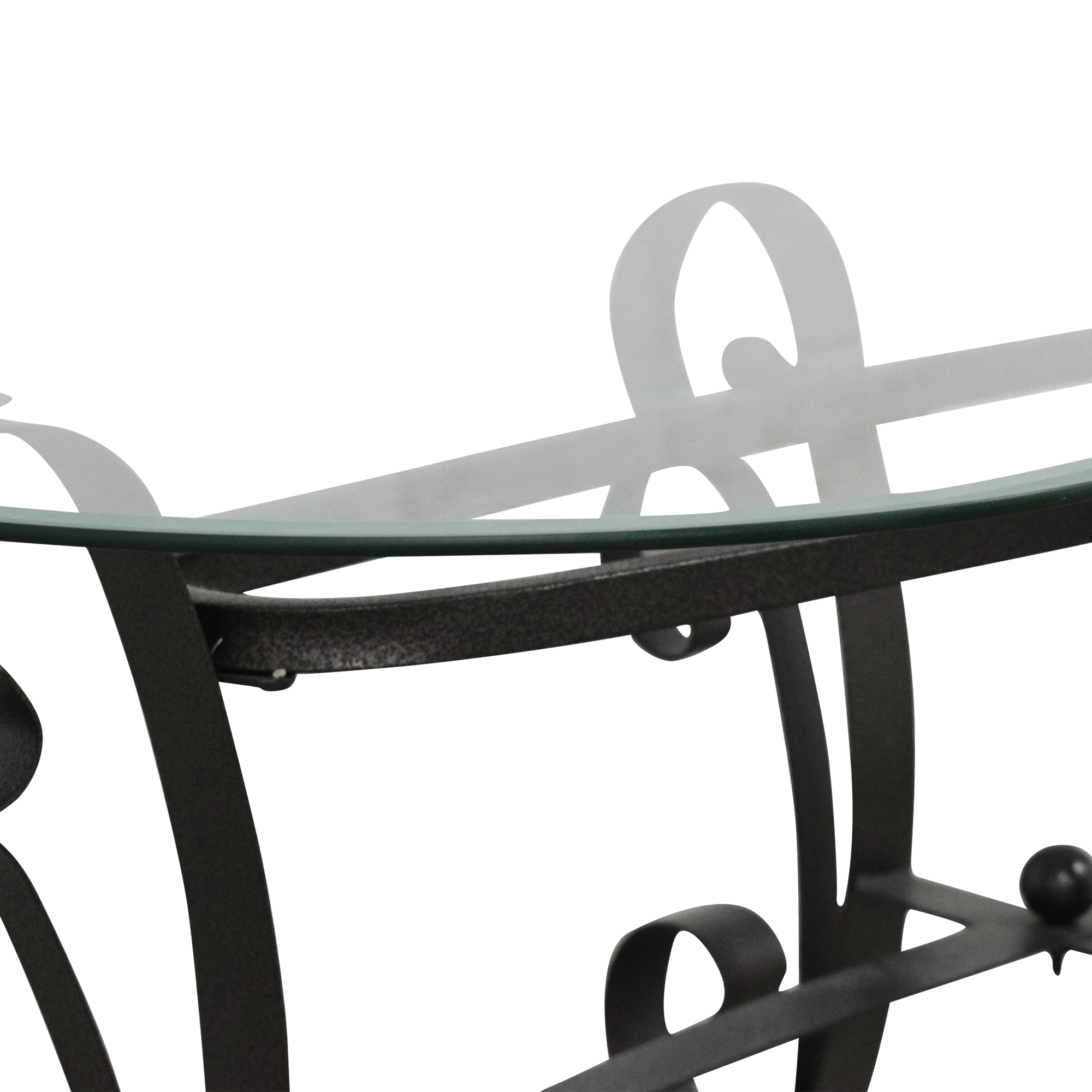 Oval Transparent Coffee Table for sale