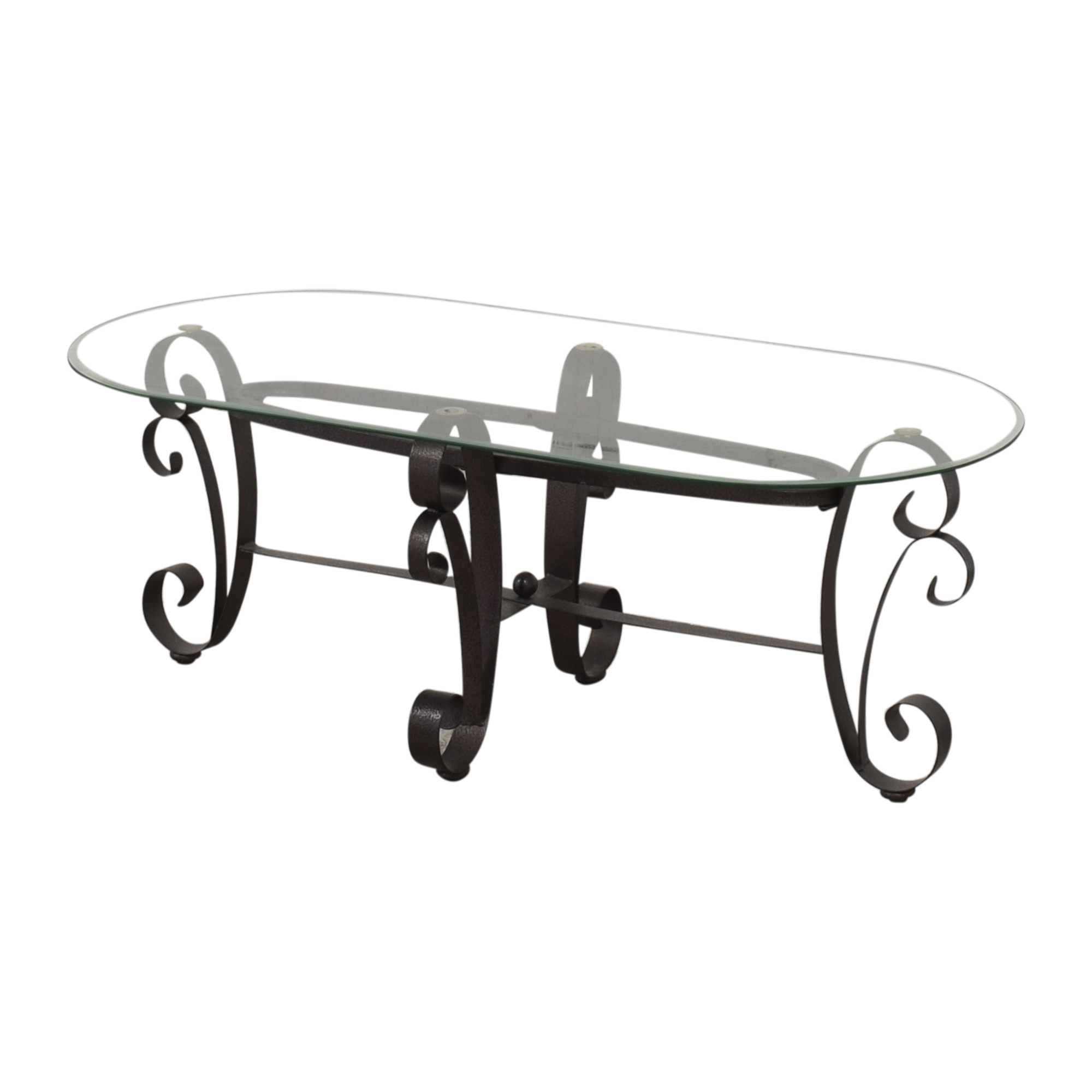 Oval Transparent Coffee Table Tables