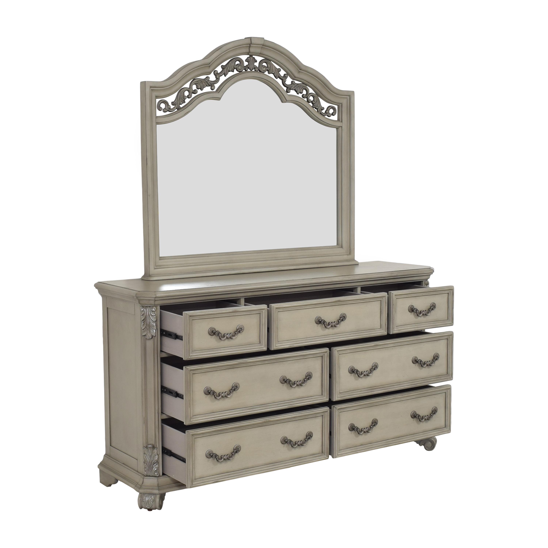 Liberty Furniture Liberty Furniture Messina Estates Seven Drawer Dresser with Mirror on sale