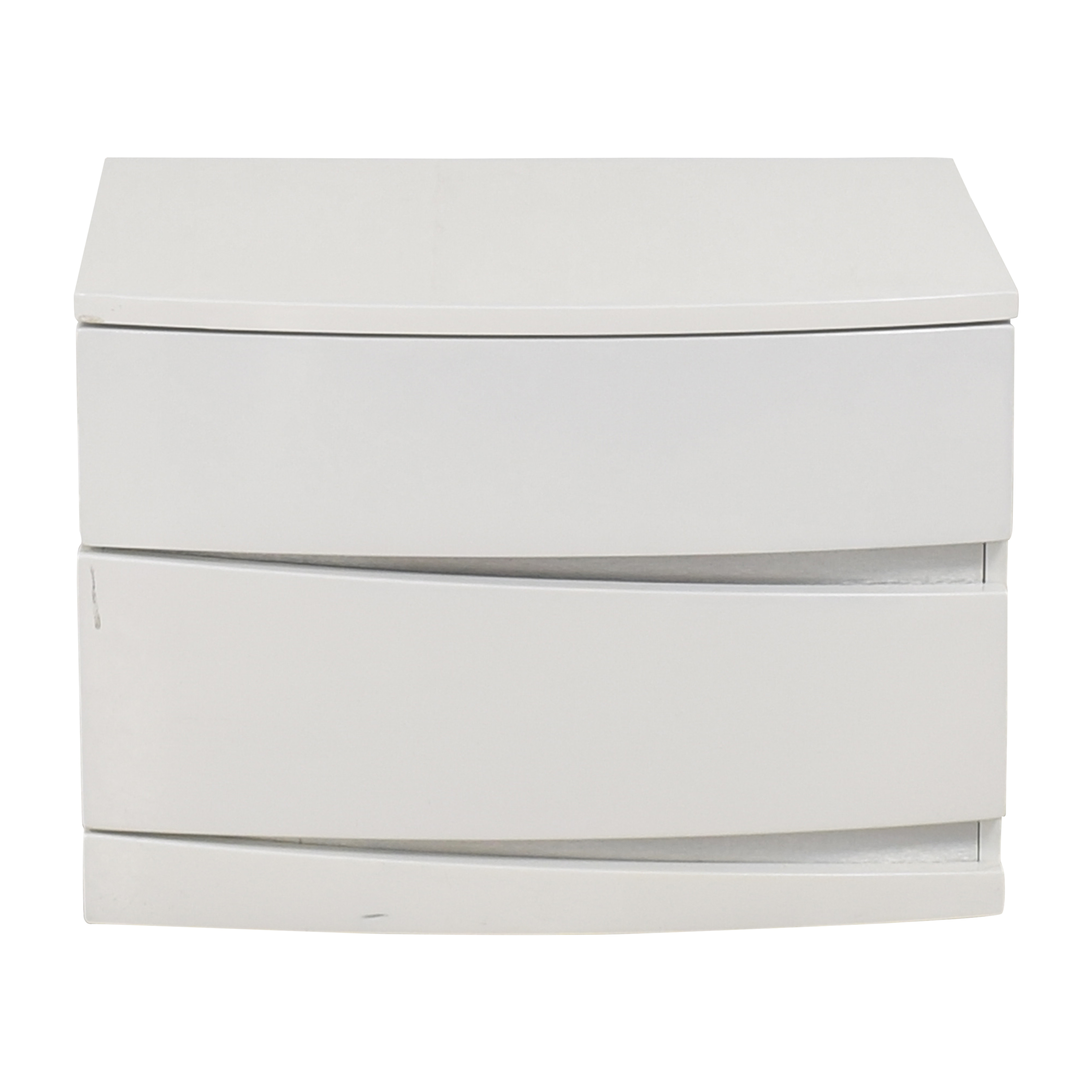 Modern Two Drawer Nightstand / End Tables