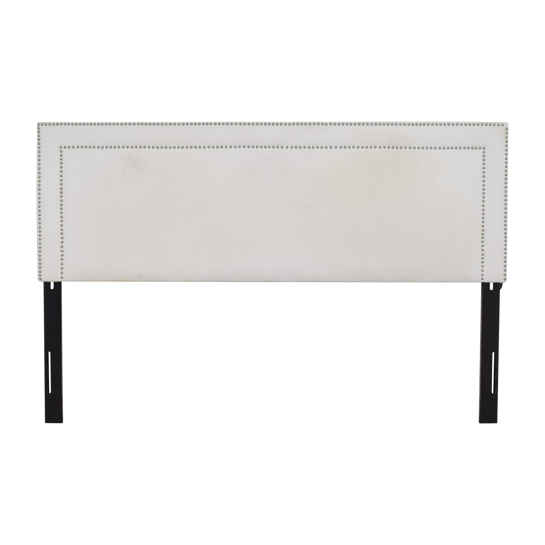 Skyline Furniture Skyline Furniture Upholstered Panel King Headboard white and black