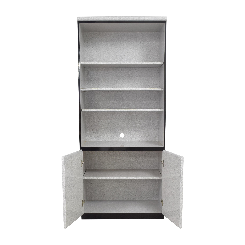 Benson's Custom Furniture Benson's Custom Furniture Bookcase Cabinet gray and black
