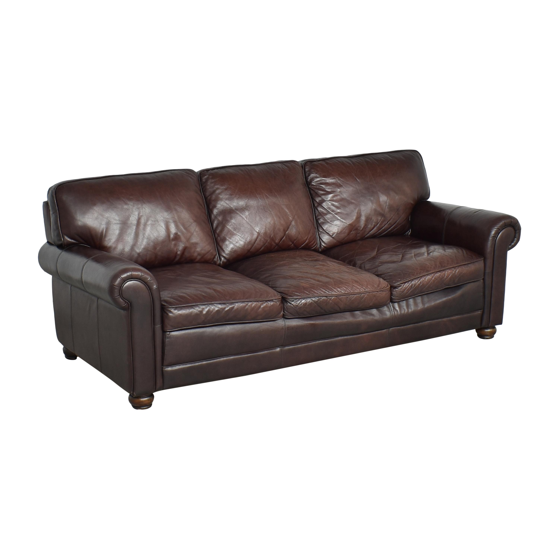 Lazzaro Lazzaro Three Cushion Sofa Brown