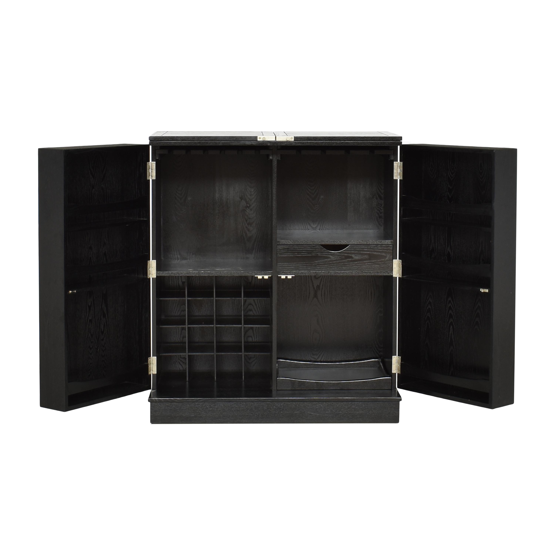 shop Crate & Barrel Steamer Bar Cabinet Crate & Barrel Cabinets & Sideboards