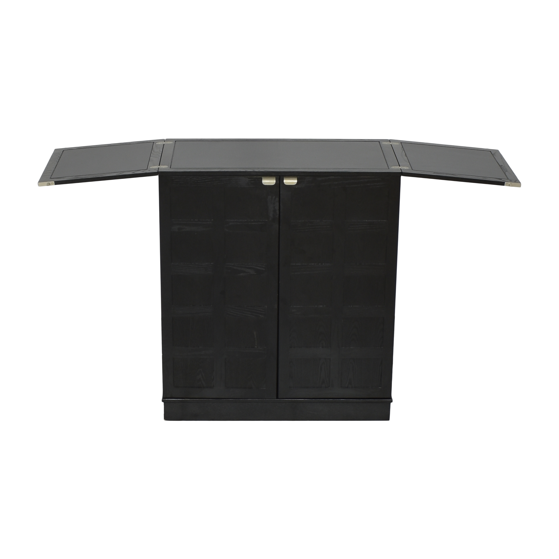 Crate & Barrel Crate & Barrel Steamer Bar Cabinet Black