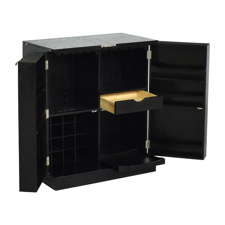 Crate & Barrel Steamer Bar Cabinet sale