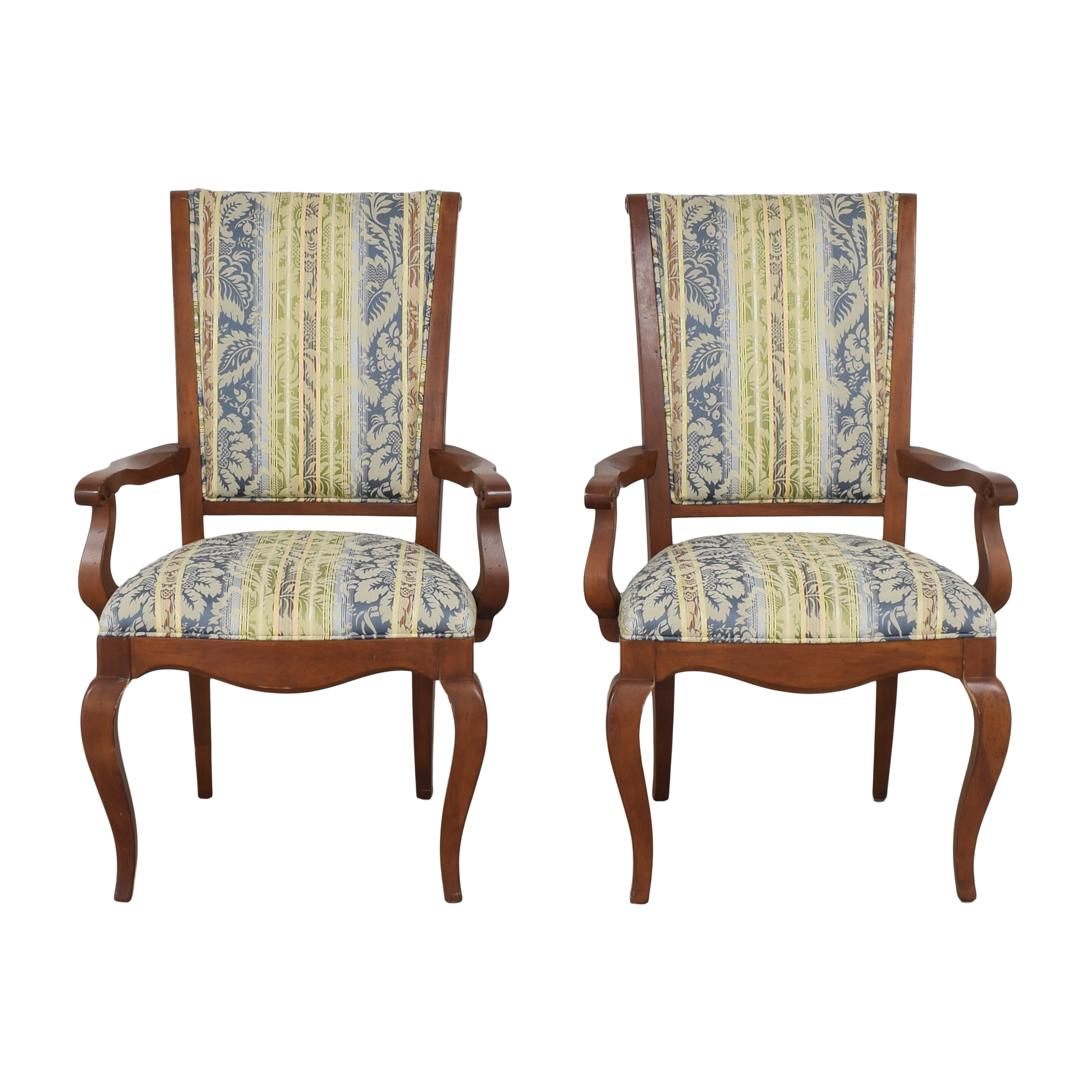 Ethan Allen Ethan Allen Upholstered Dining Arm Chairs for sale