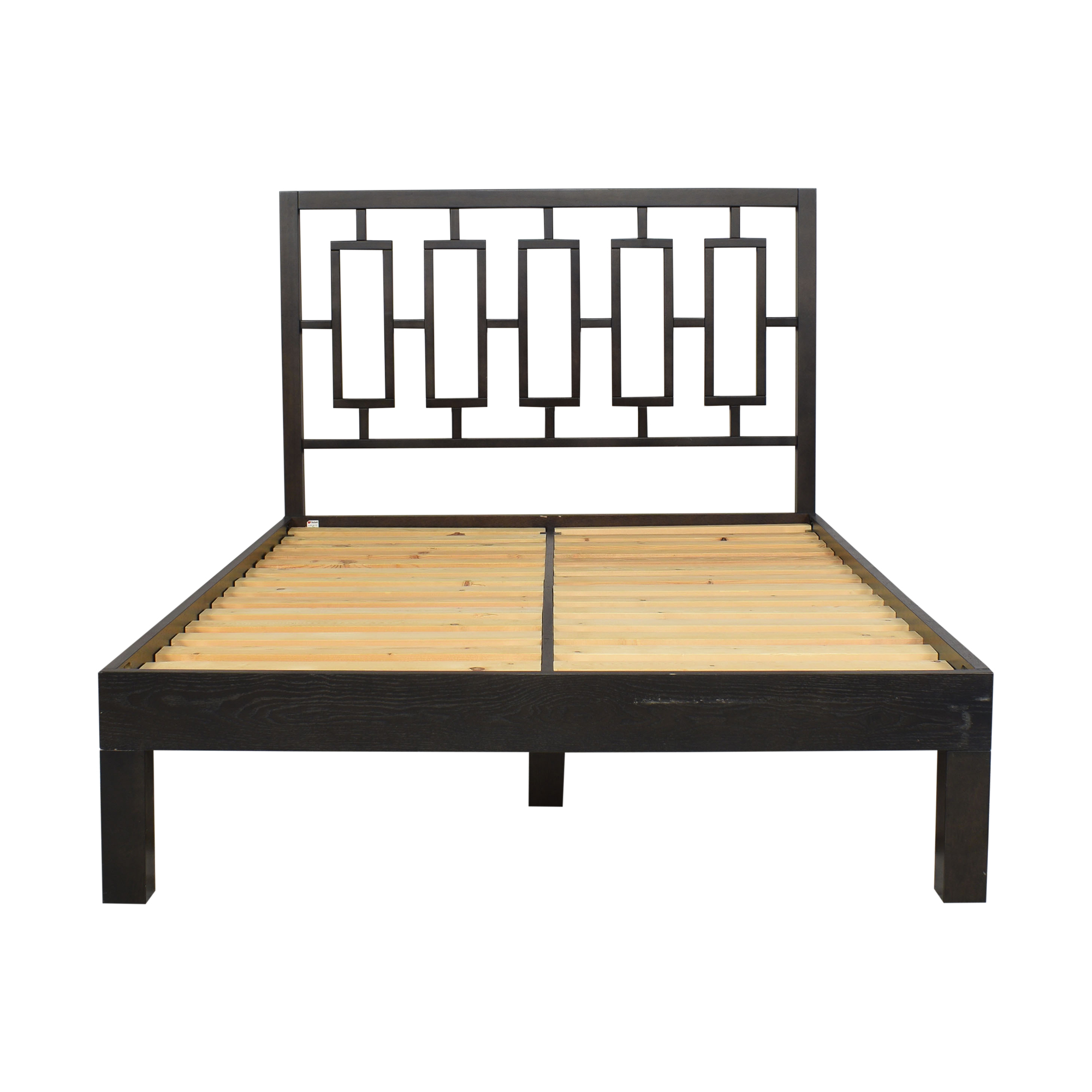 West Elm Simple Full Bed with Window Headboard / Bed Frames