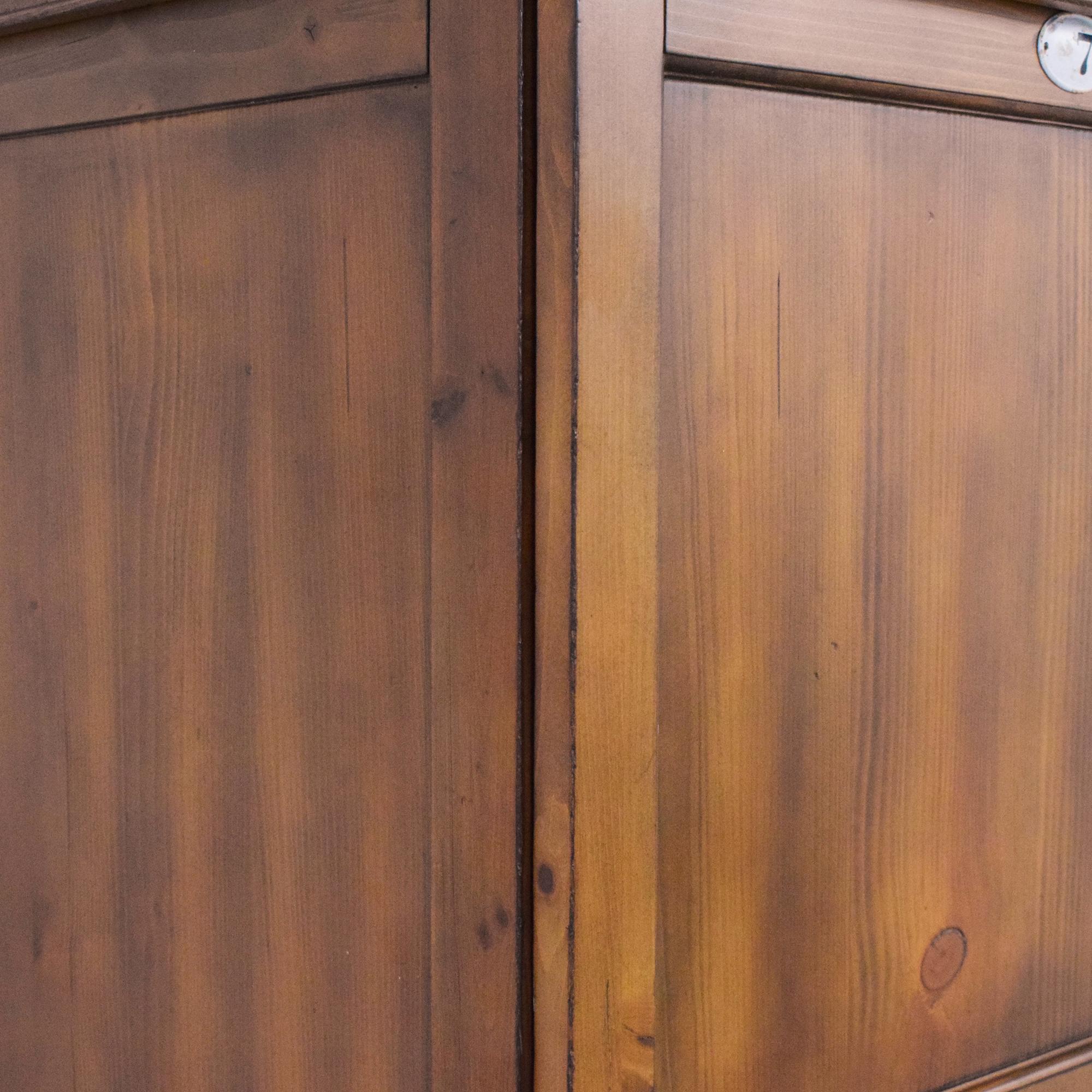 Pottery Barn Dayton French Locker Media Armoire with Sliding Doors sale