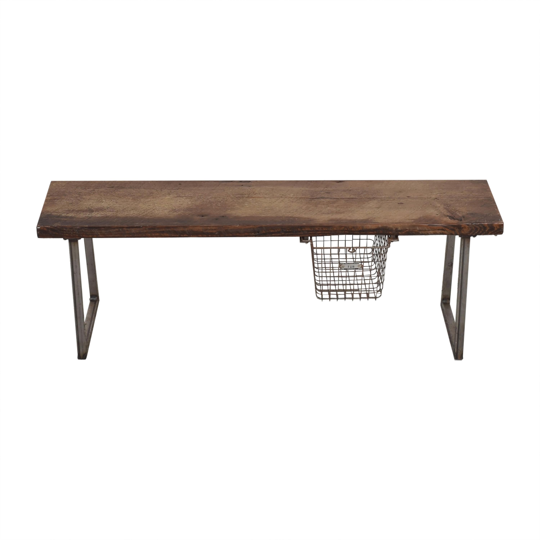 Urban Wood Goods Urban Wood Goods Brooklyn Reclaimed Bench with Locker Basket