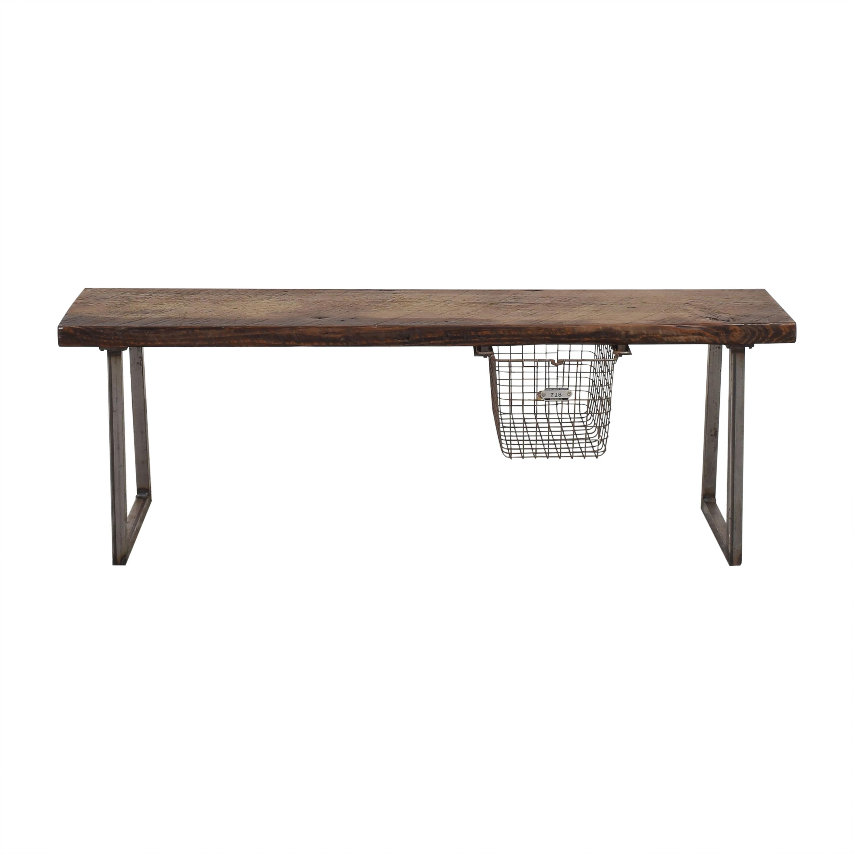 Urban Wood Goods Urban Wood Goods Brooklyn Reclaimed Bench with Locker Basket nyc