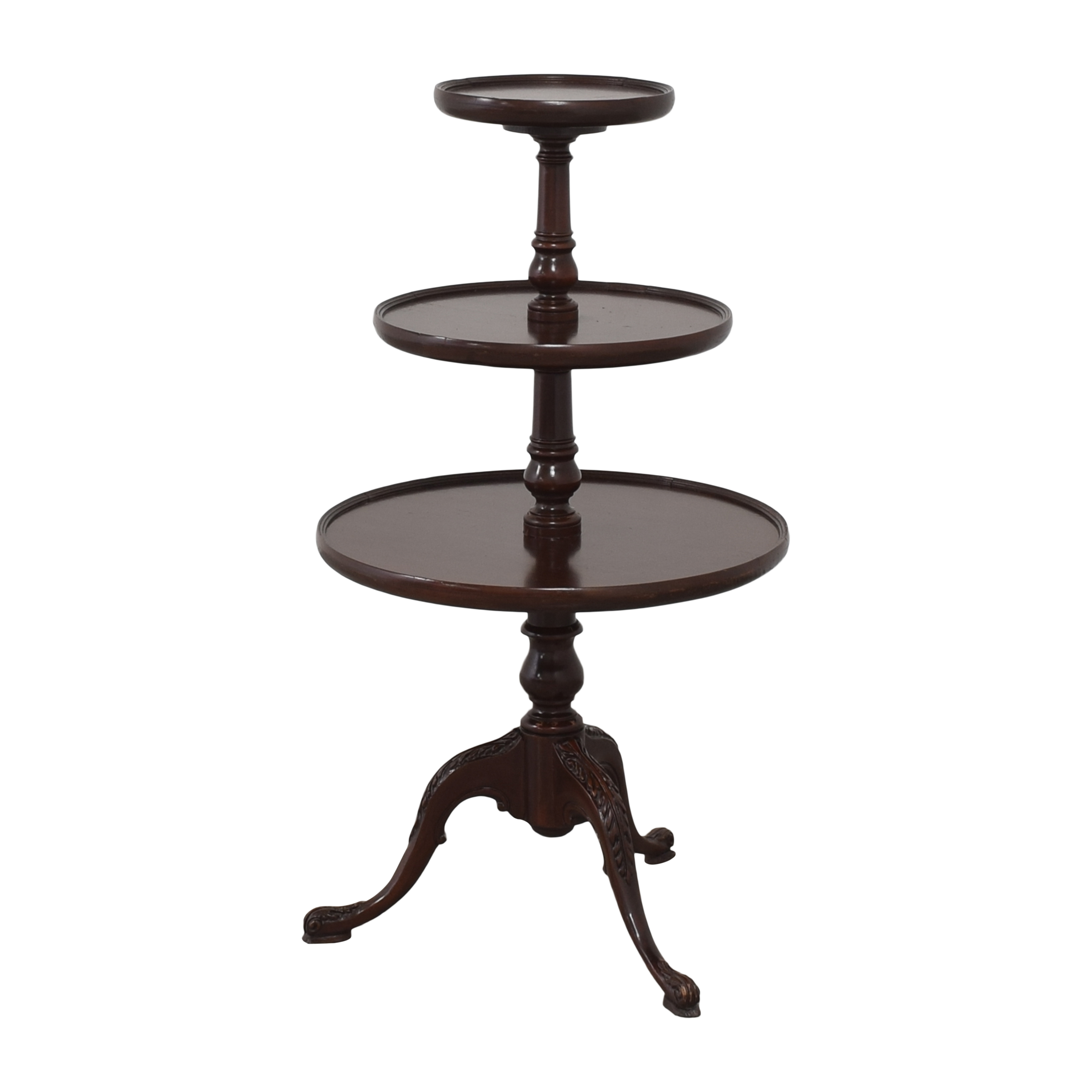 Vintage-Style Three Tier Accent Table pa