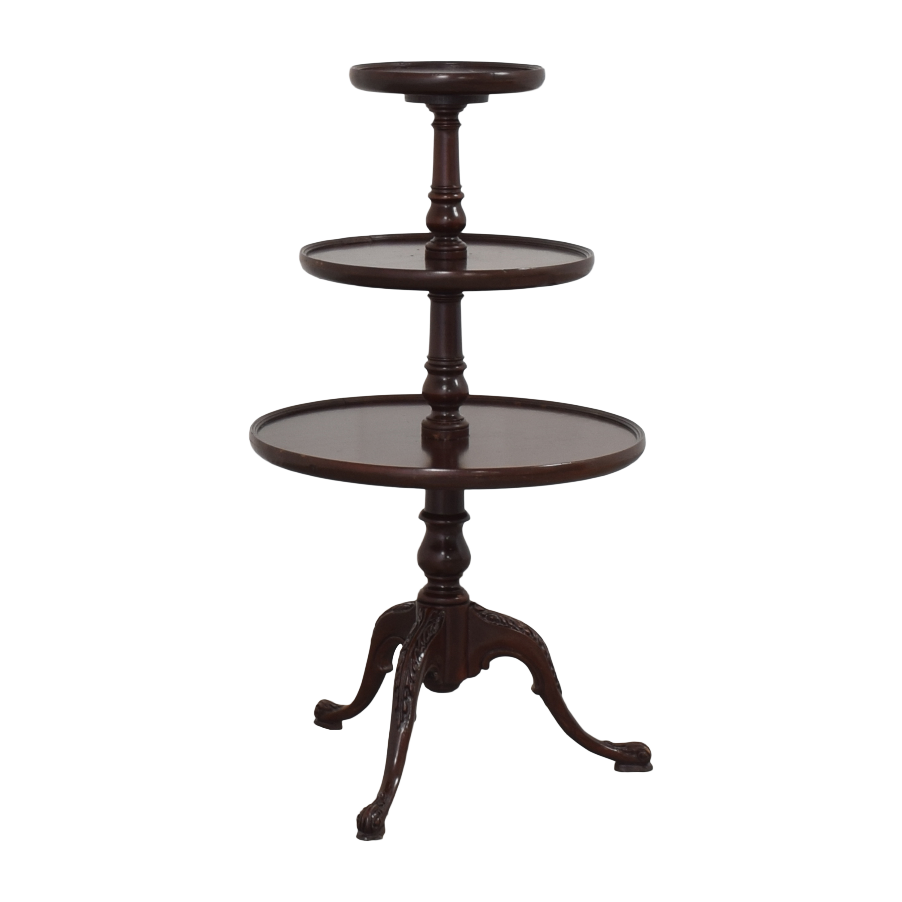 Vintage-Style Three Tier Accent Table ma
