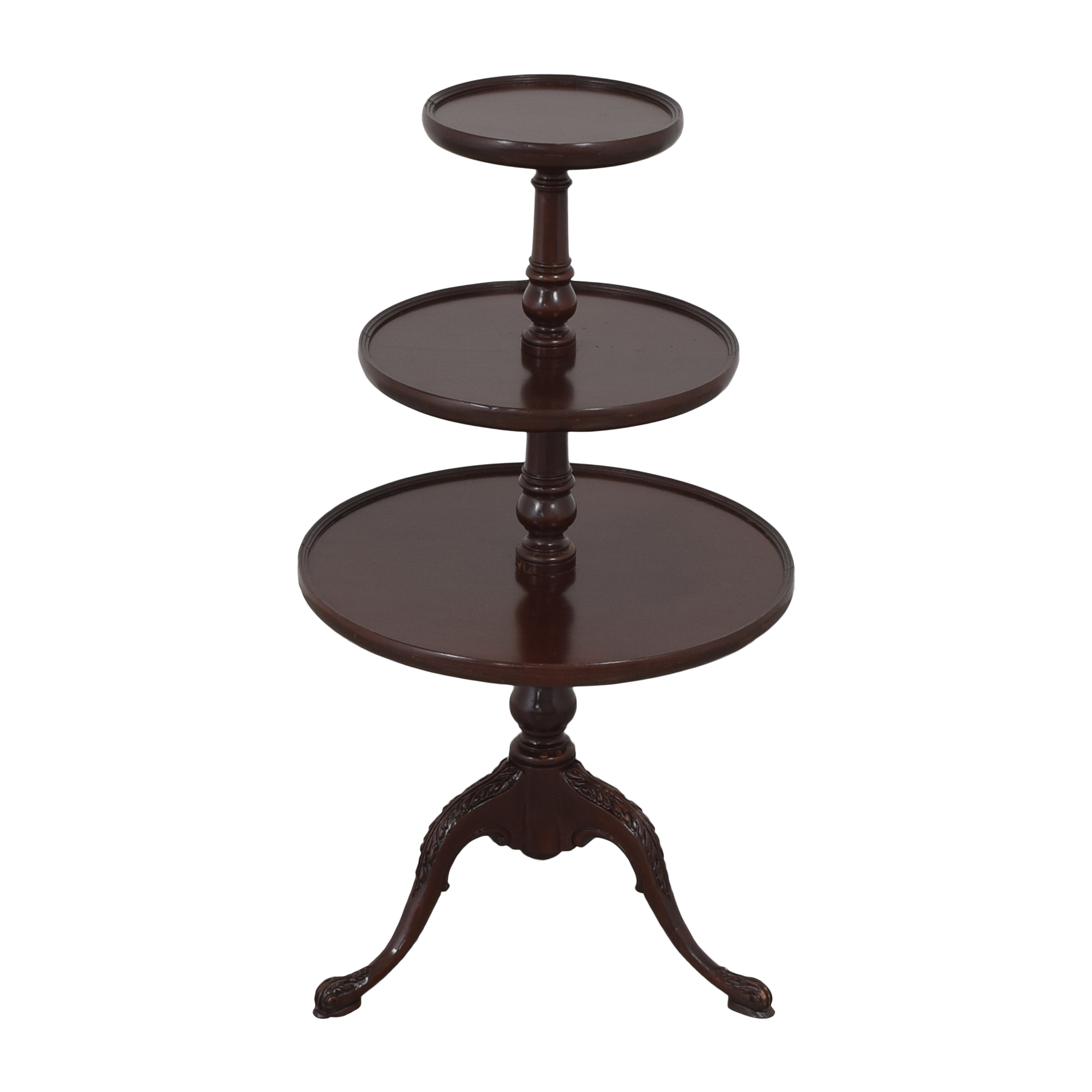 Vintage-Style Three Tier Accent Table second hand