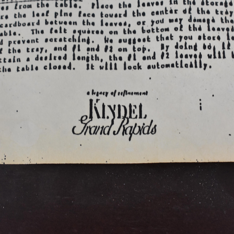 Kindel Kindel Oval Dining Table for sale