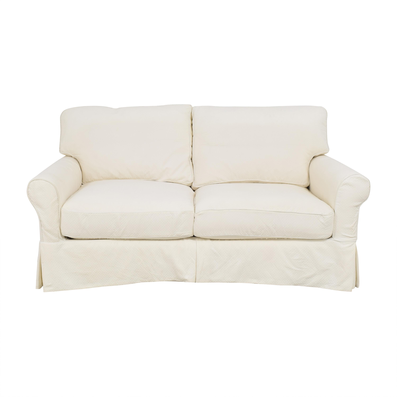 Ballard Designs Ballard Designs Baldwin Slipcovered Apartment Sofa Classic Sofas