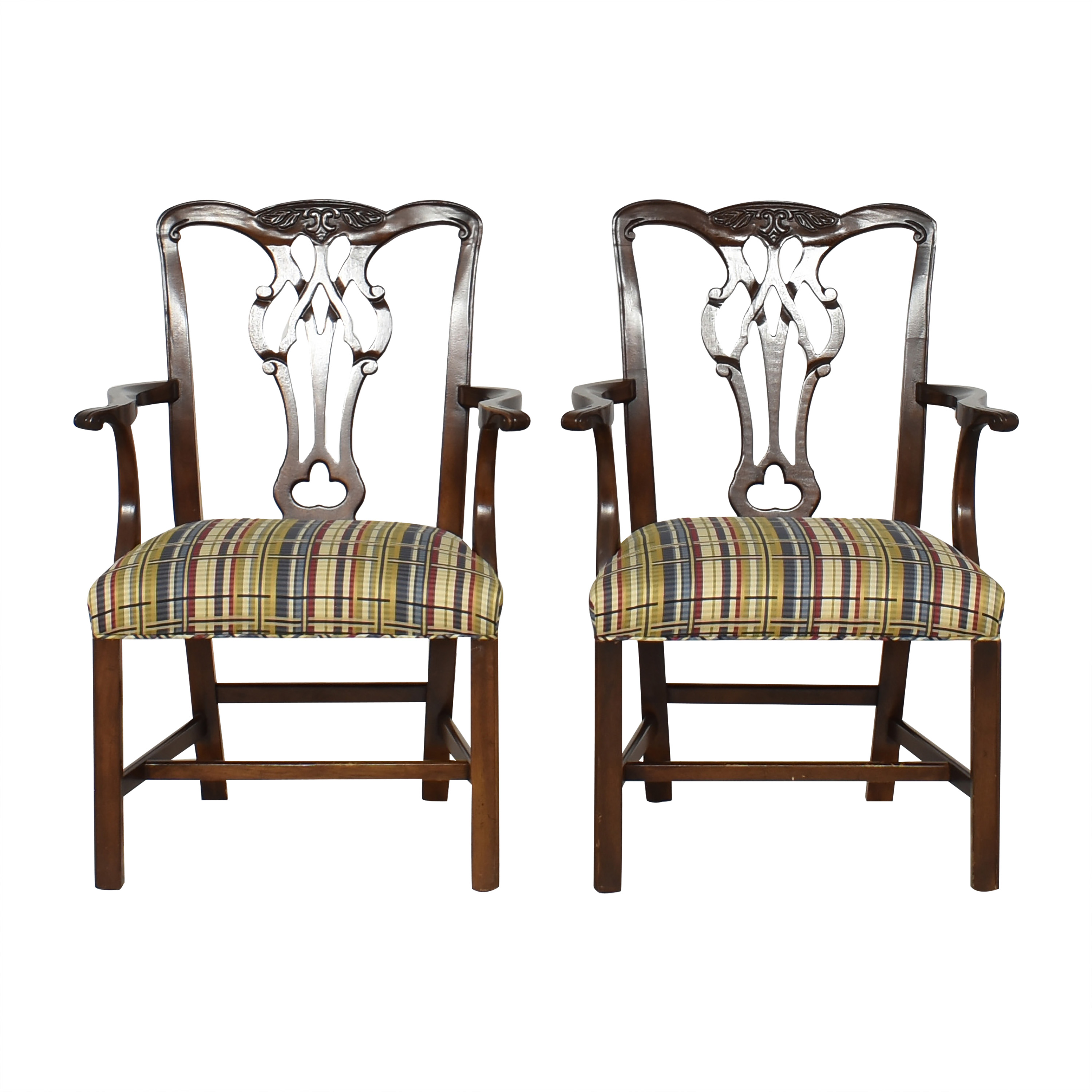 Chippendale-Style Dining Arm Chairs / Dining Chairs