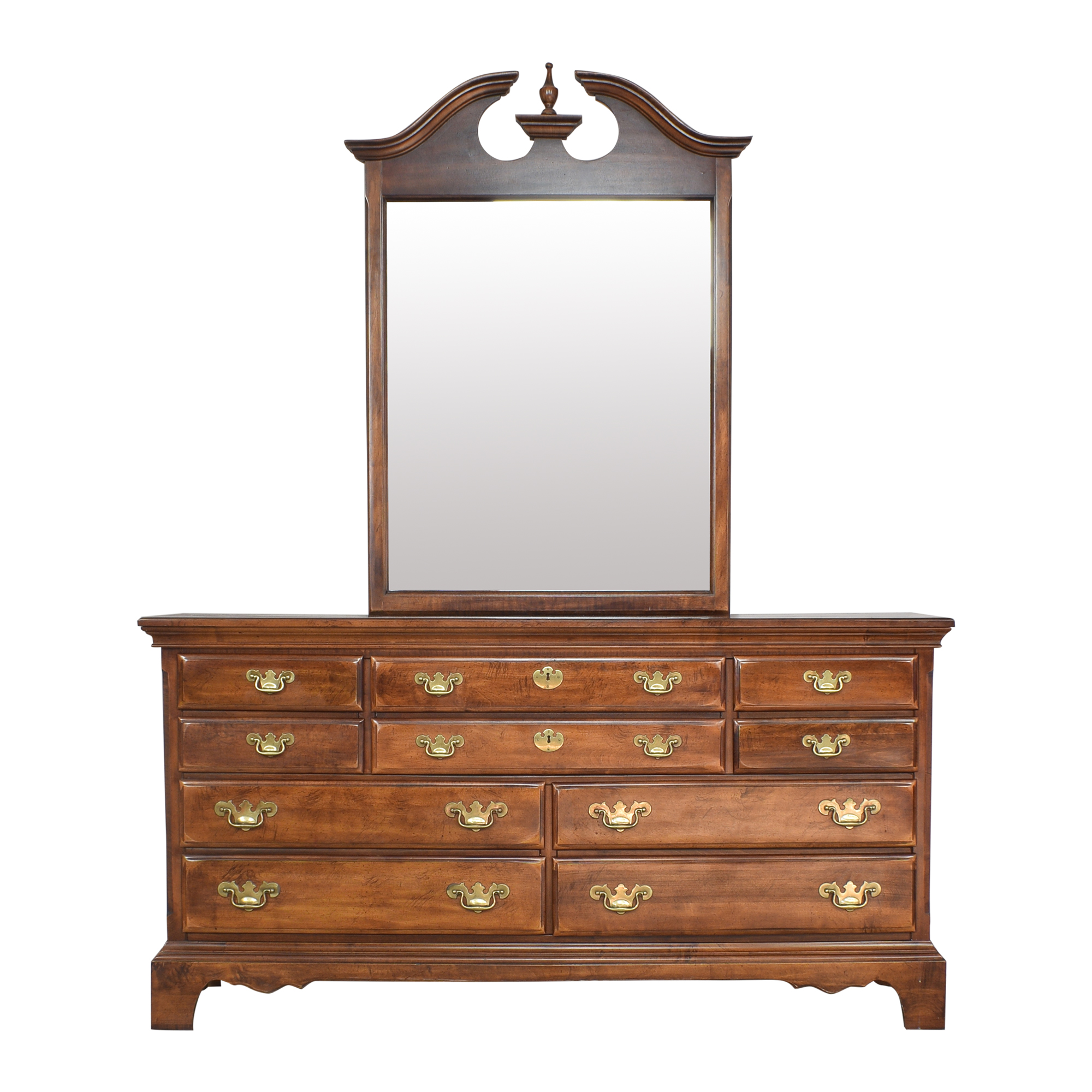 buy Chippendale Dresser with Mirror  Storage