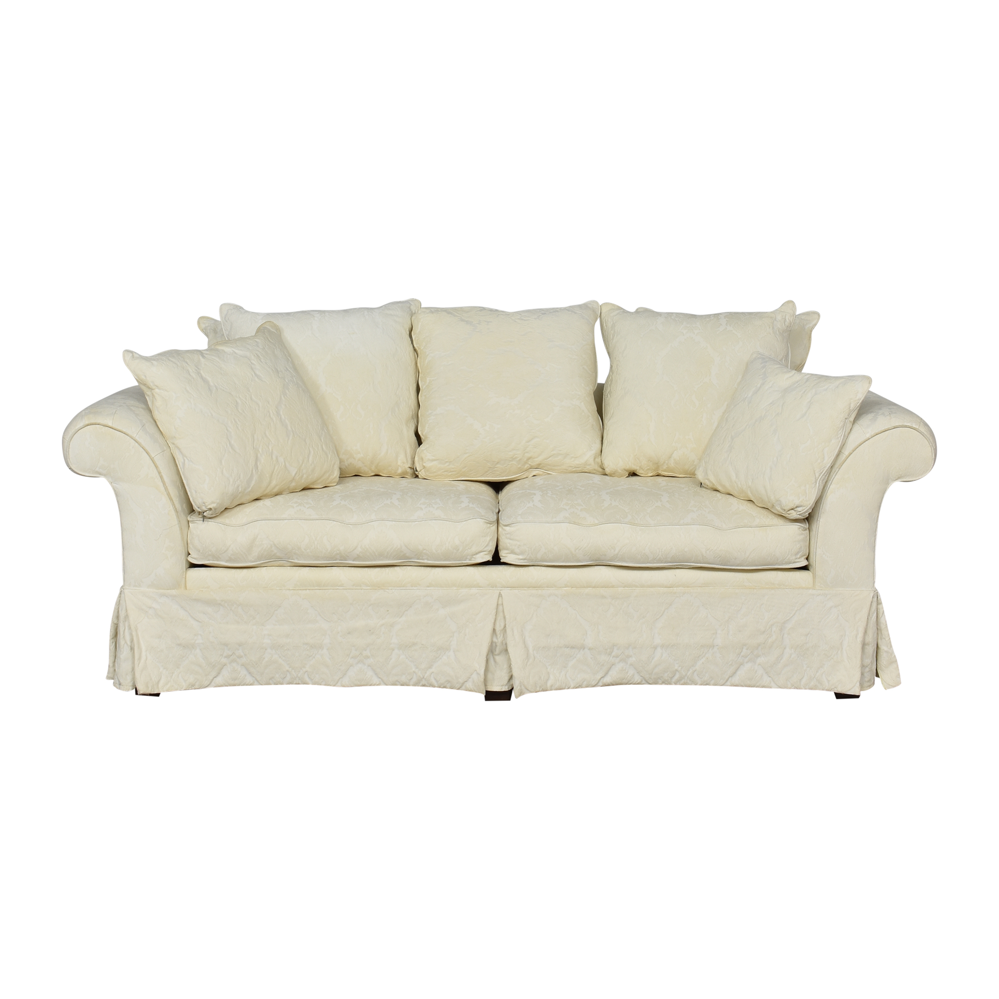 buy Alexvale Two Cushion Skirted Sofa Alexvale Sofas