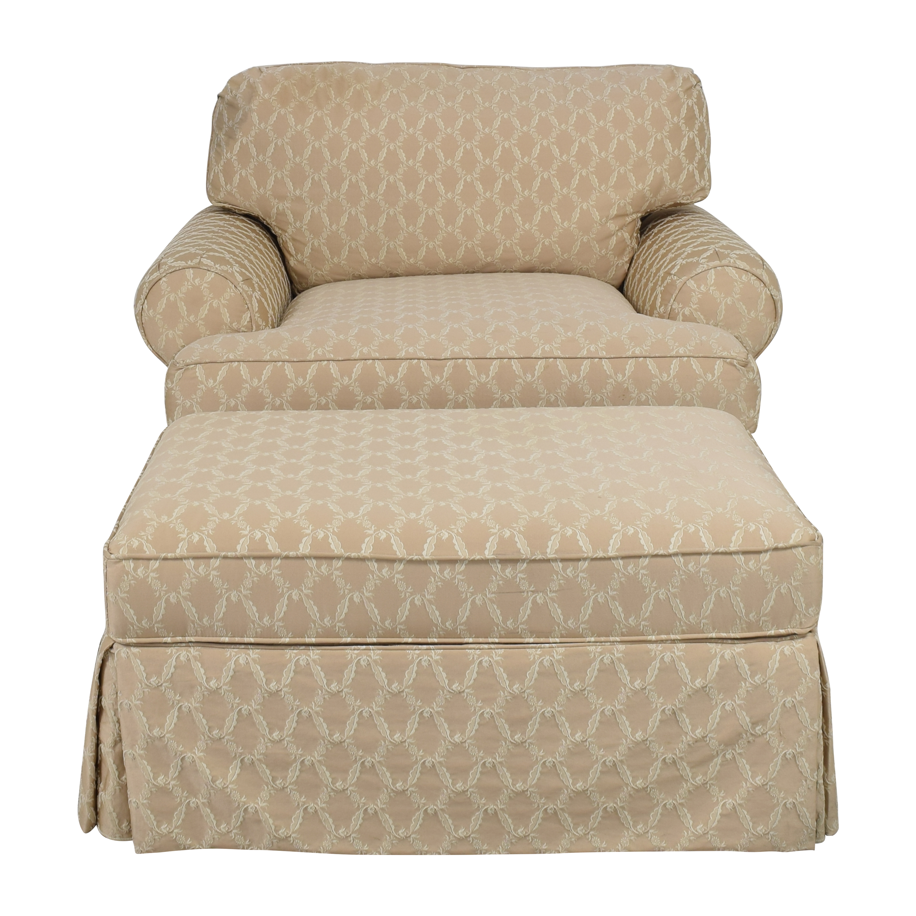 Domain Domain Chair and a Half with Ottoman for sale