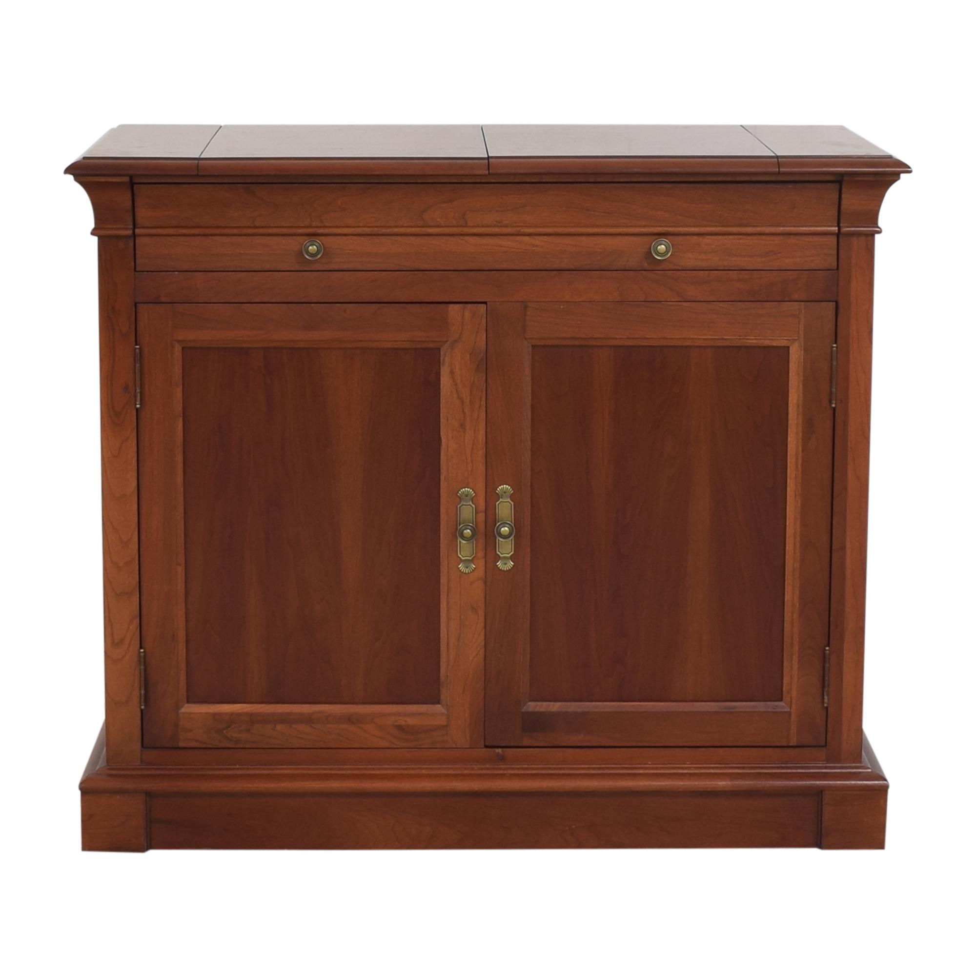 buy Ethan Allen Medallion Flip Top Buffet Cabinet Ethan Allen Storage