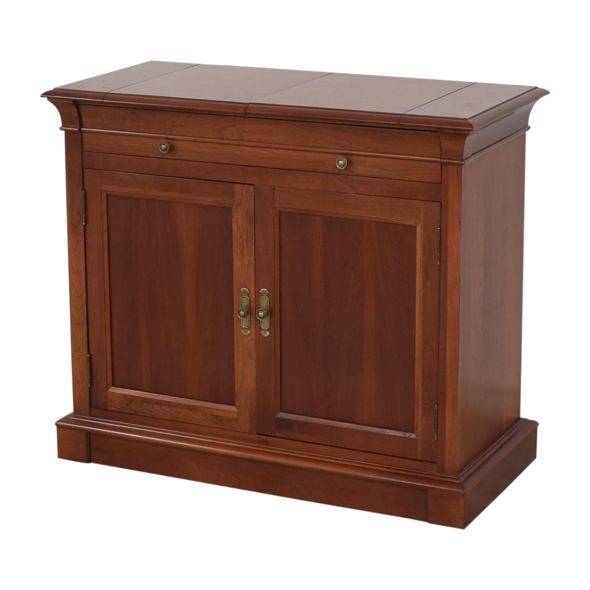 Ethan Allen Ethan Allen Medallion Flip Top Buffet Cabinet on sale