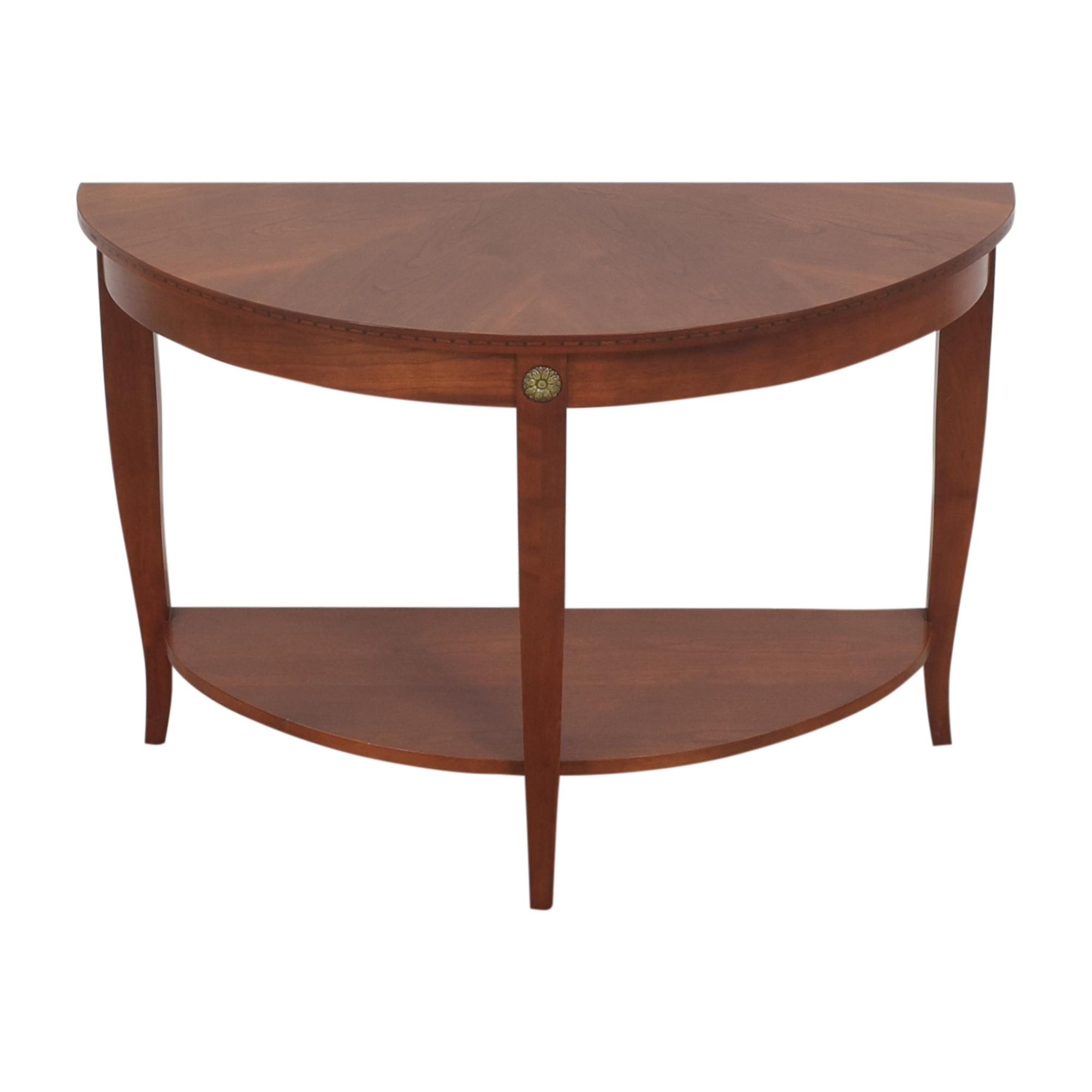 buy Ethan Allen Medallion Crescent Console Table Ethan Allen Accent Tables