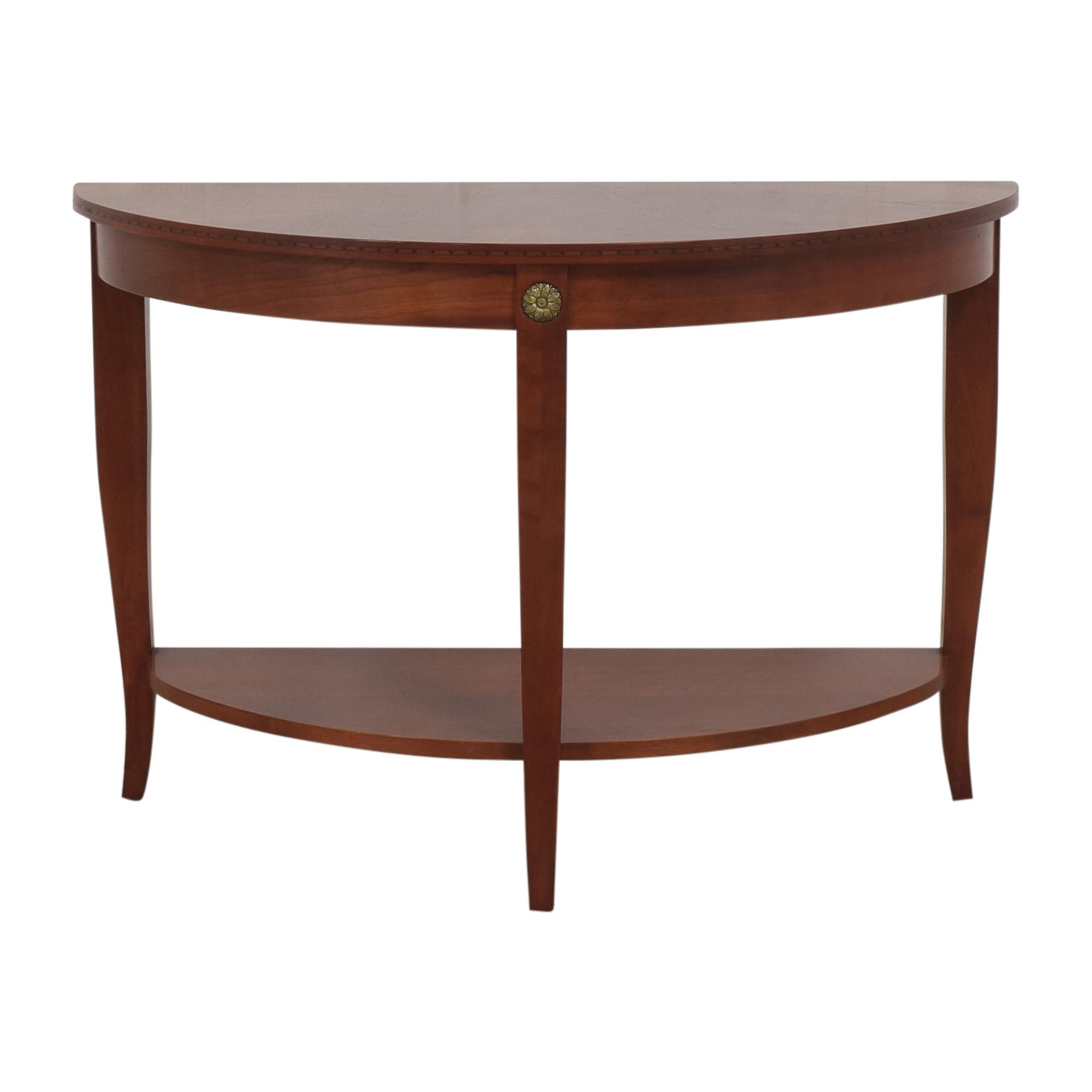 buy Ethan Allen Medallion Crescent Console Table Ethan Allen Tables