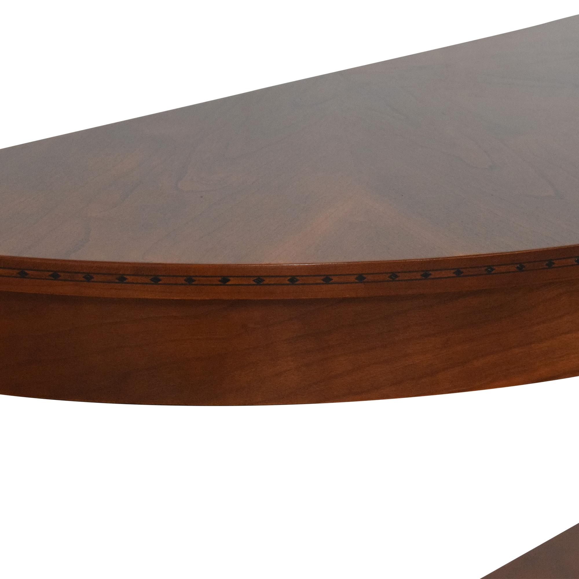Ethan Allen Medallion Crescent Console Table / Accent Tables