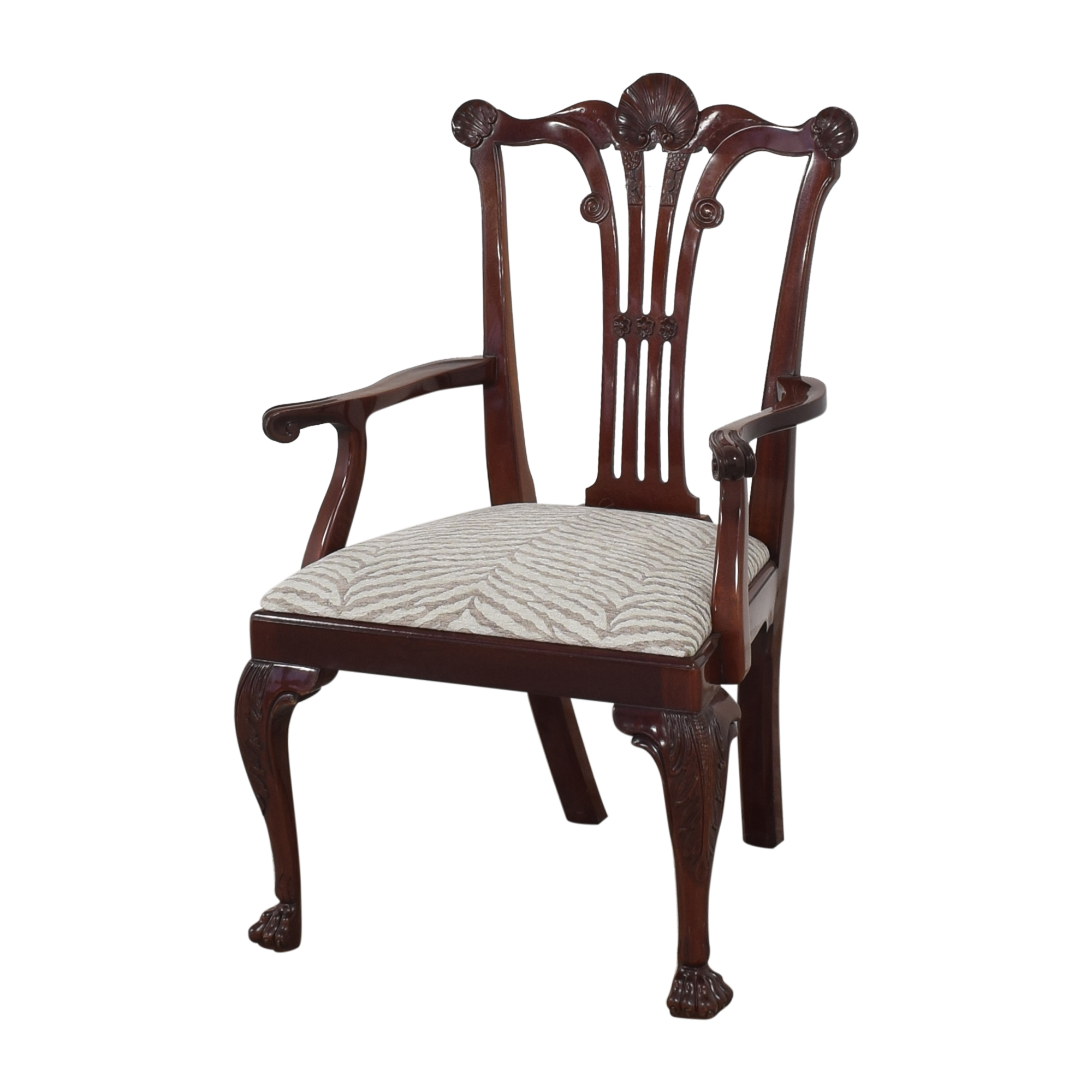 Kindel Chippendale-Style Dining Arm Chairs sale