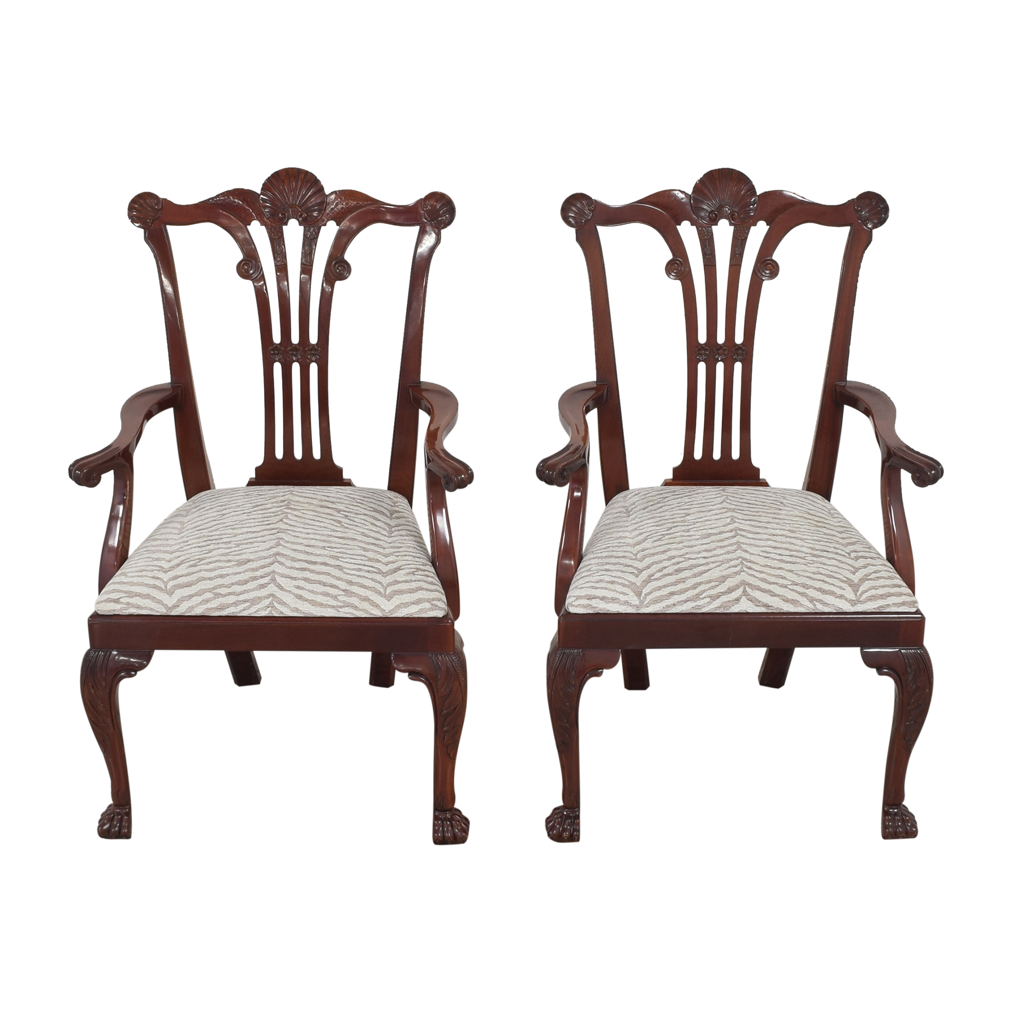 buy Kindel Chippendale-Style Dining Arm Chairs Kindel