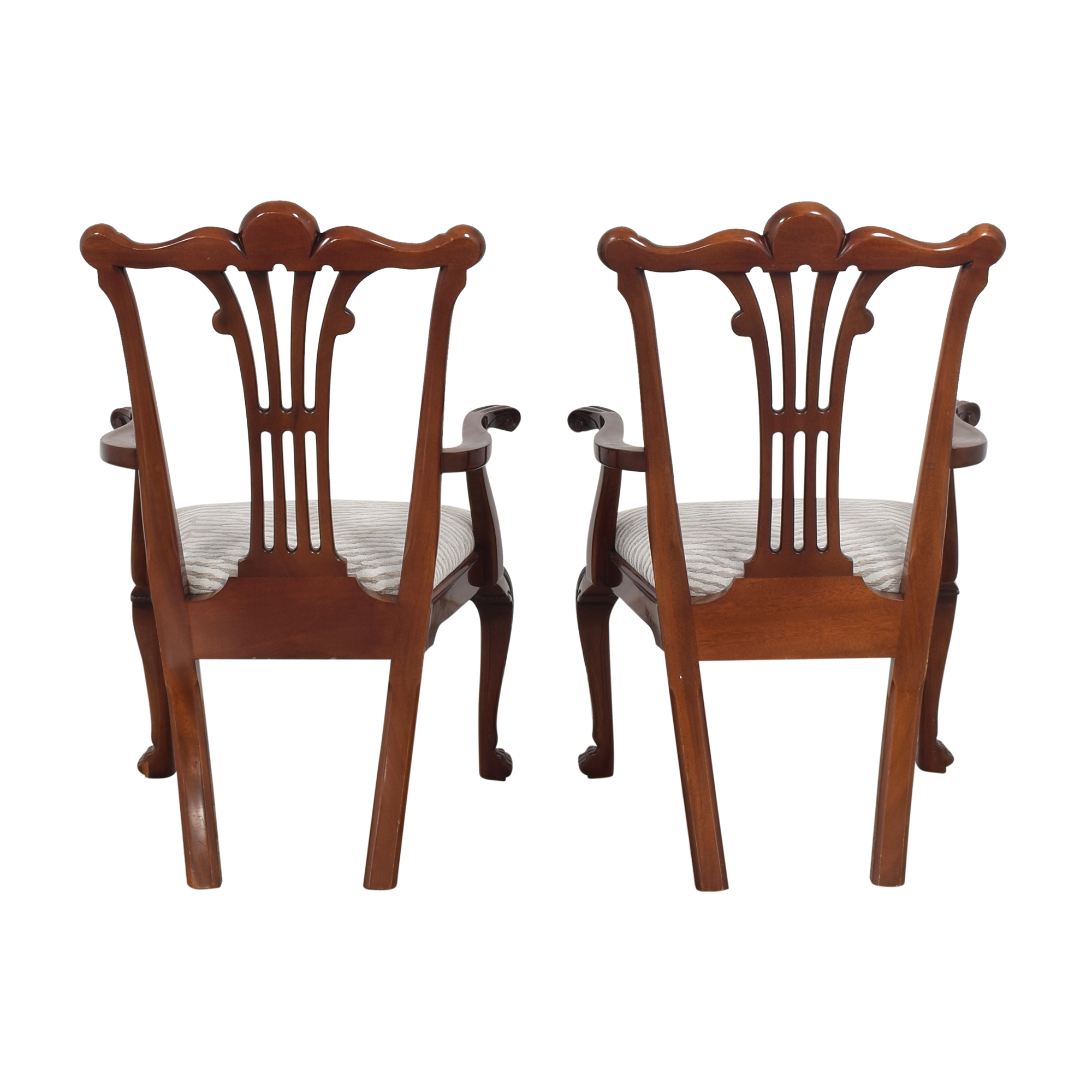 Kindel Kindel Chippendale-Style Dining Arm Chairs ct
