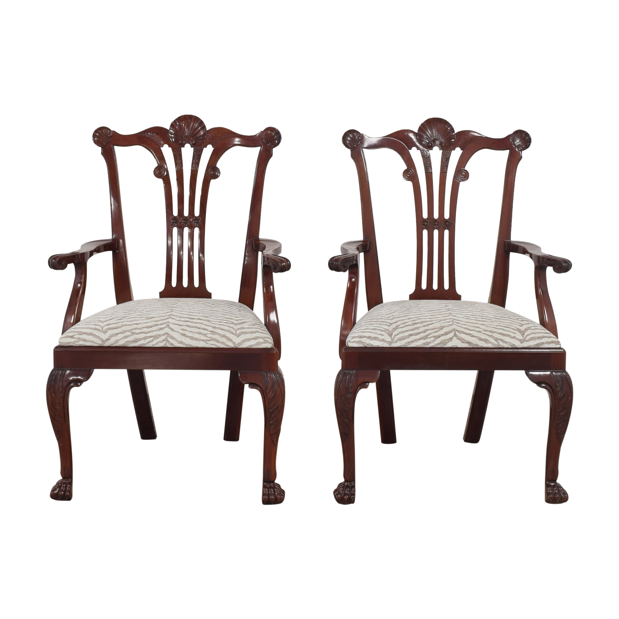 Kindel Kindel Chippendale-Style Dining Arm Chairs nj