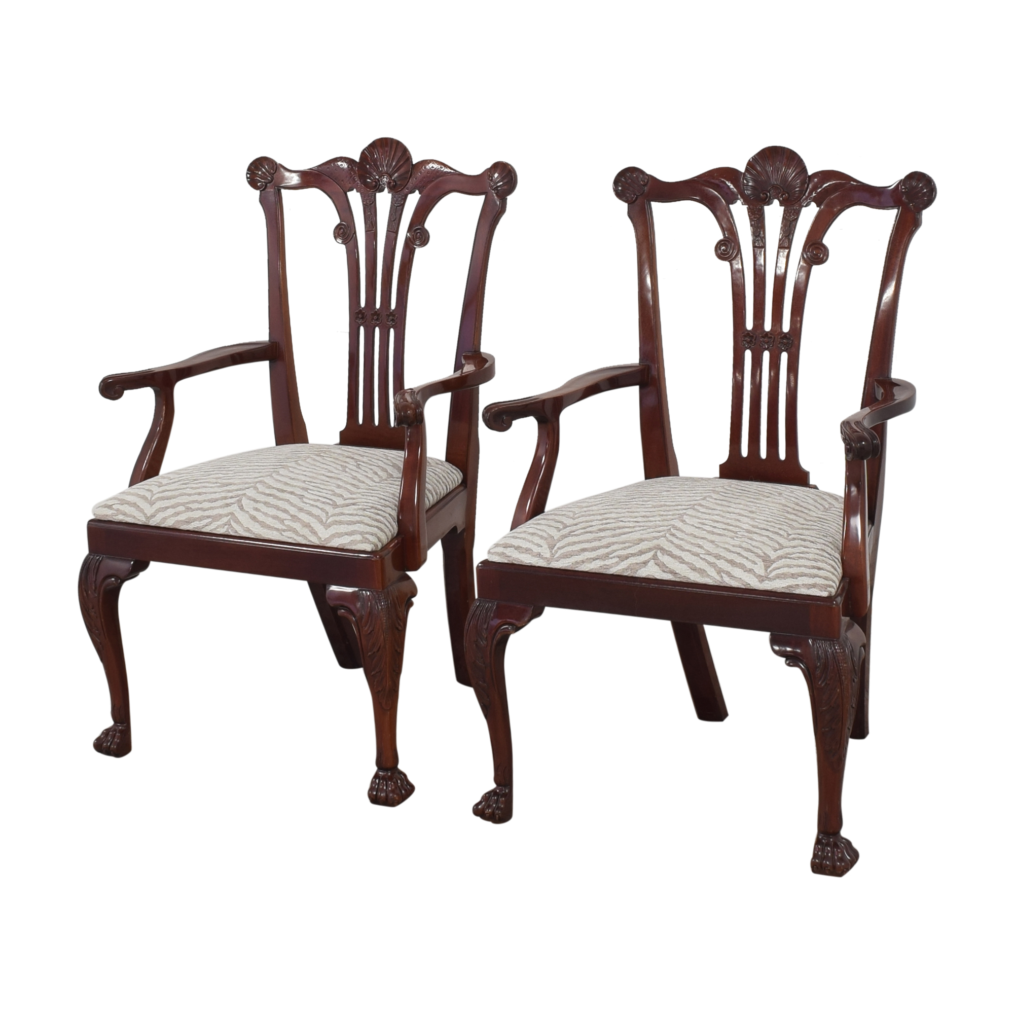 buy Kindel Kindel Chippendale-Style Dining Arm Chairs online