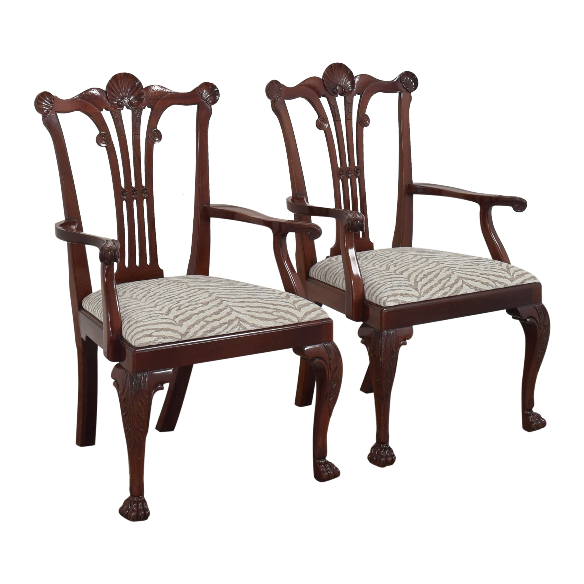 Kindel Kindel Chippendale-Style Dining Arm Chairs coupon