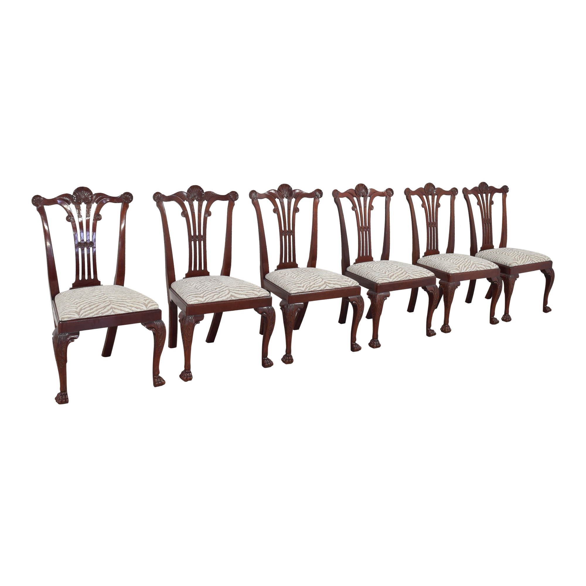 Kindel Kindel Chippendale-Style Dining Side Chairs ct