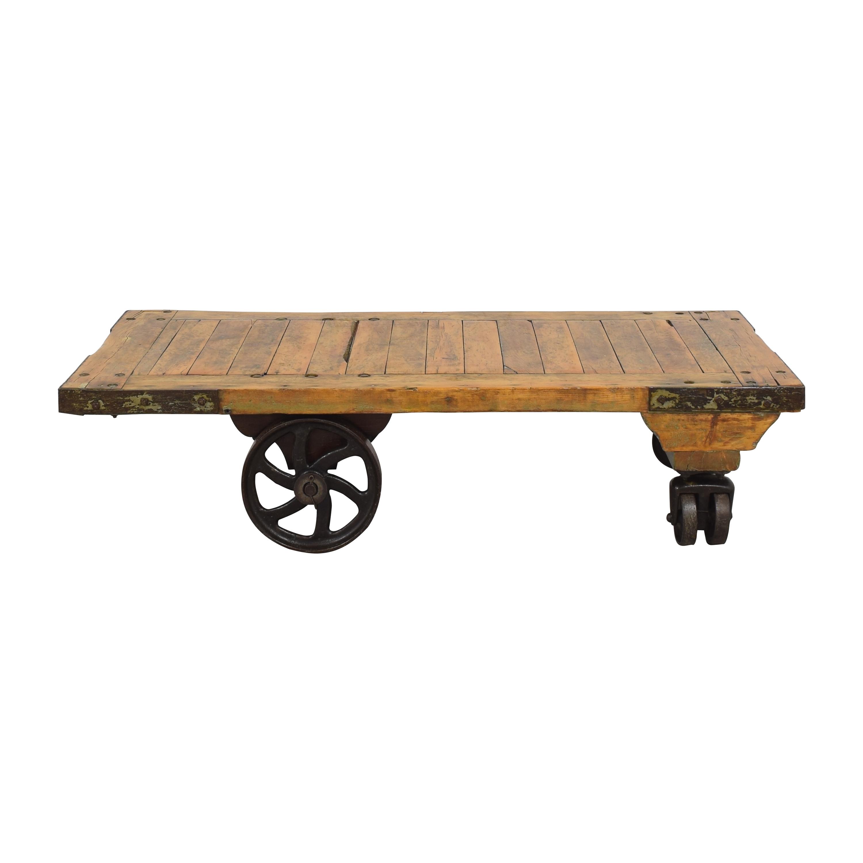 buy Railroad Cart Coffee Table