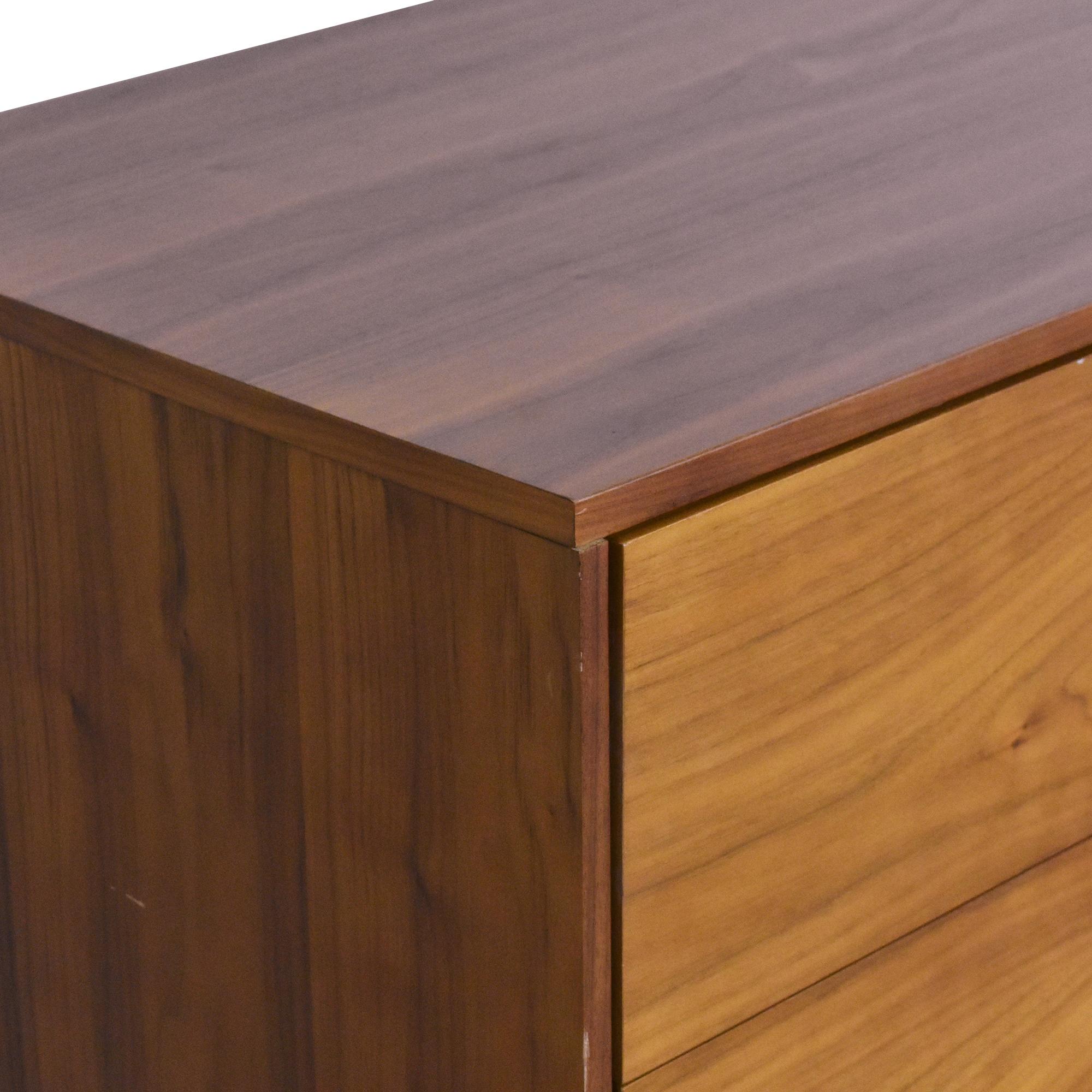 shop AllModern Mid Century Six Drawer Dresser AllModern Storage