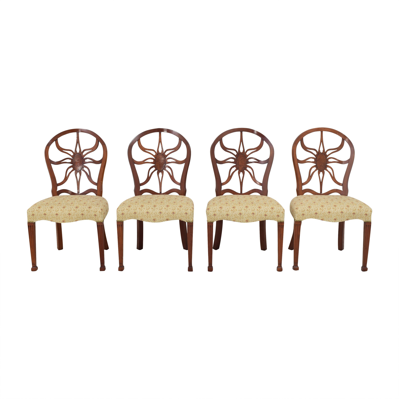 shop Arthur Brett Sunburst Dining Side Chairs Arthur Brett Chairs