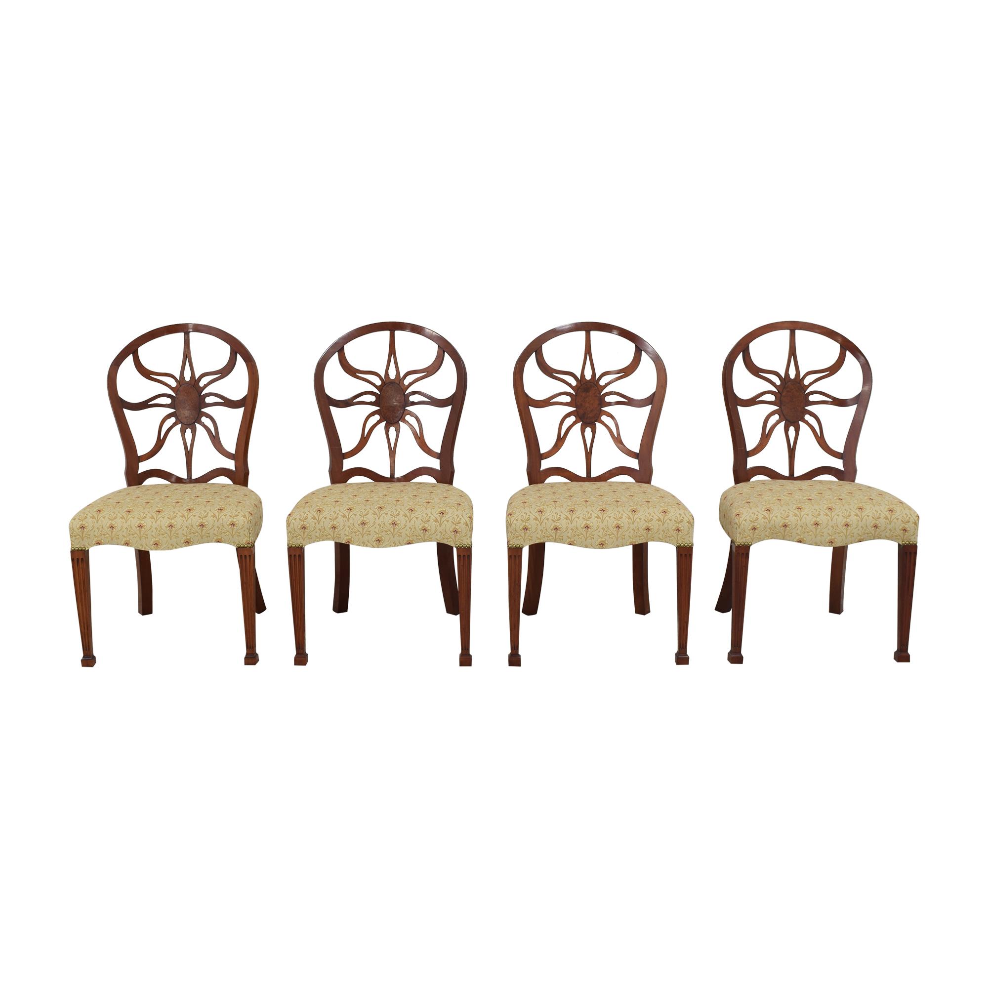 Arthur Brett Arthur Brett Sunburst Dining Side Chairs ma
