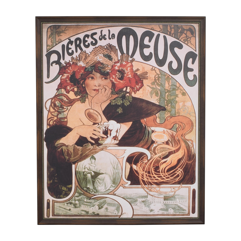 Alphonse Mucha Bieres de la Meuse Framed Wall Art